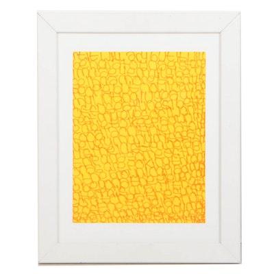 "Jenny Crowe 2016 Marker on Paper ""Untitled"""