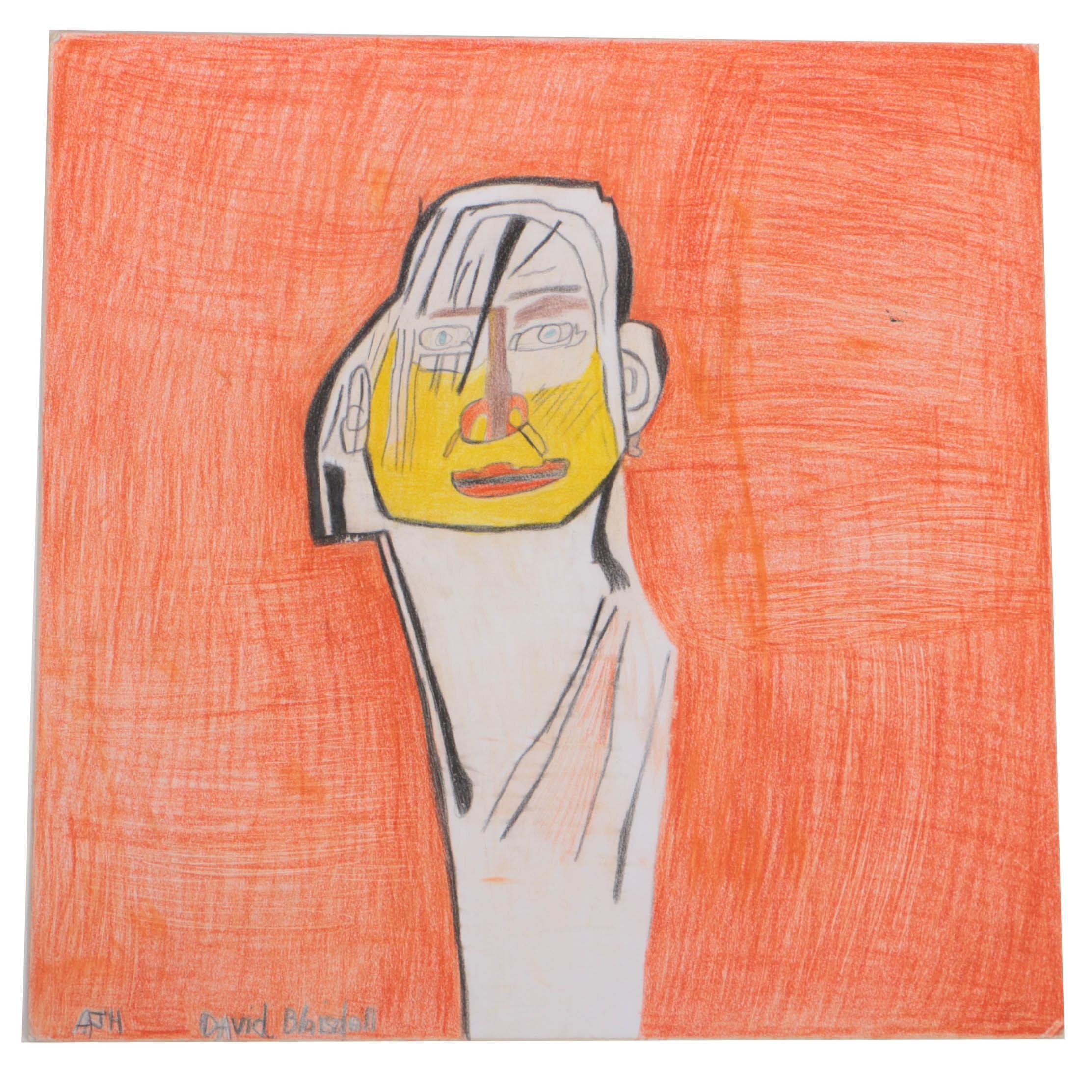 "Andrew Hostick 2015 Colored Pencil on Illustration Board ""David Blaisdell"""