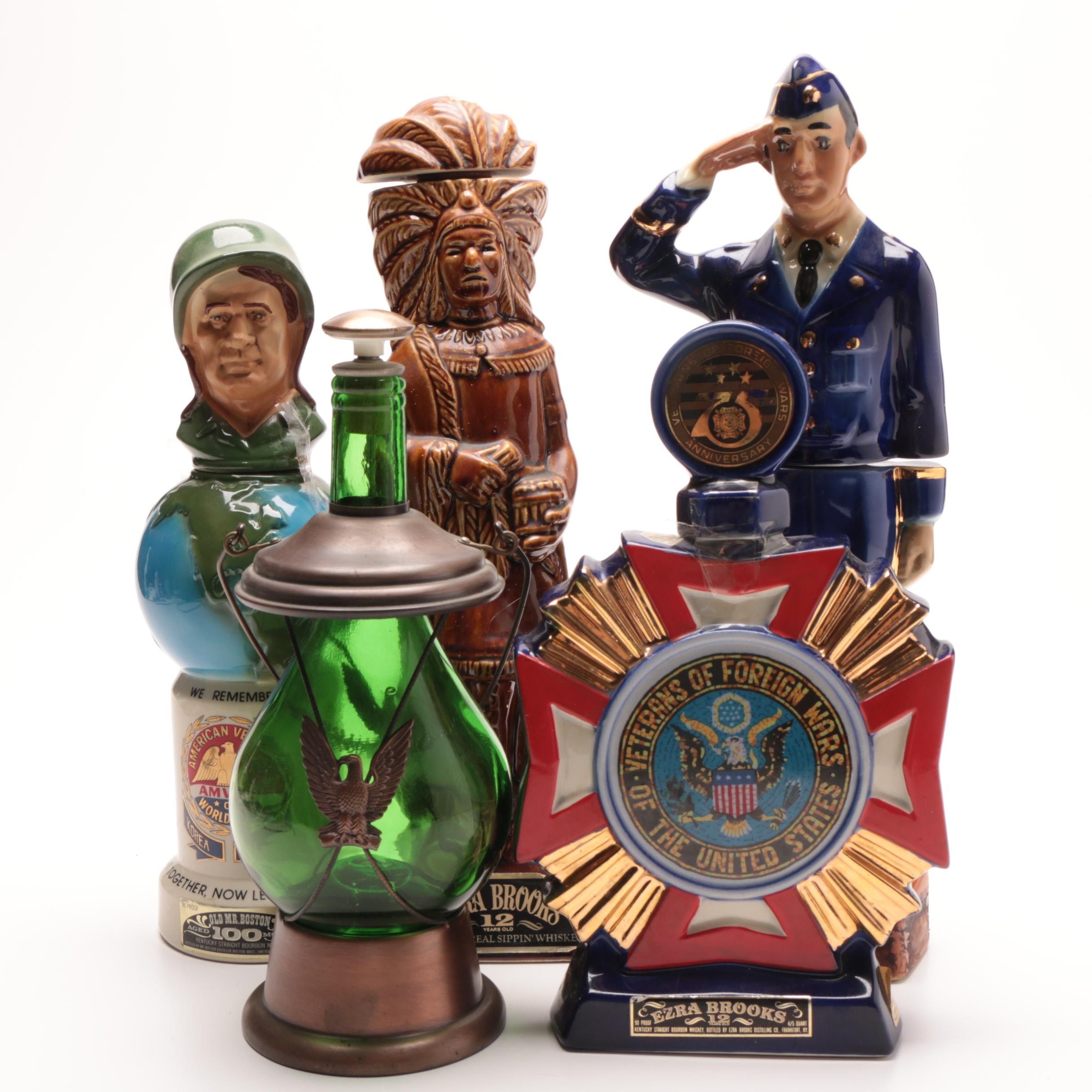Group of Vintage Decanters