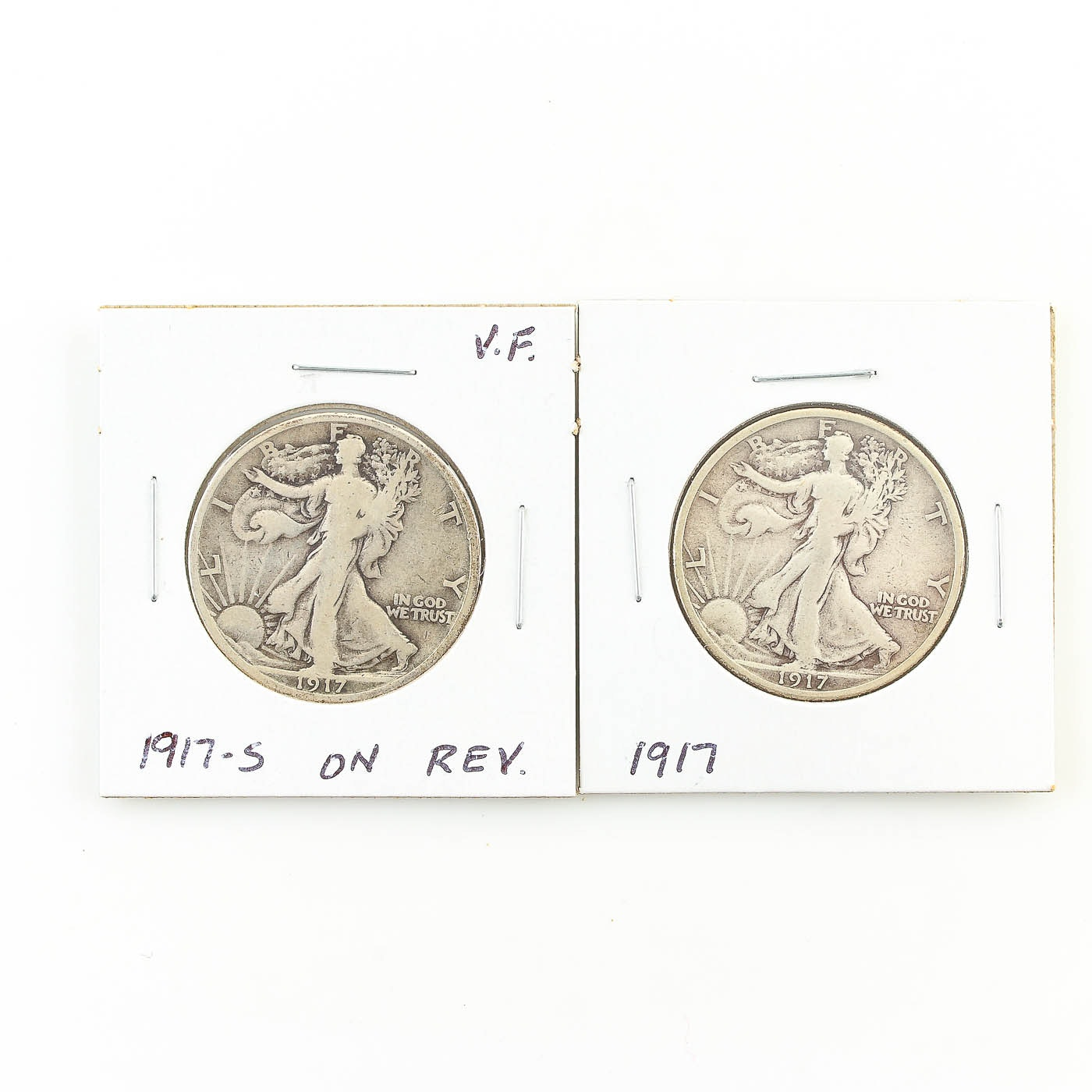 1917 and 1917-S Walking Liberty Half Dollars