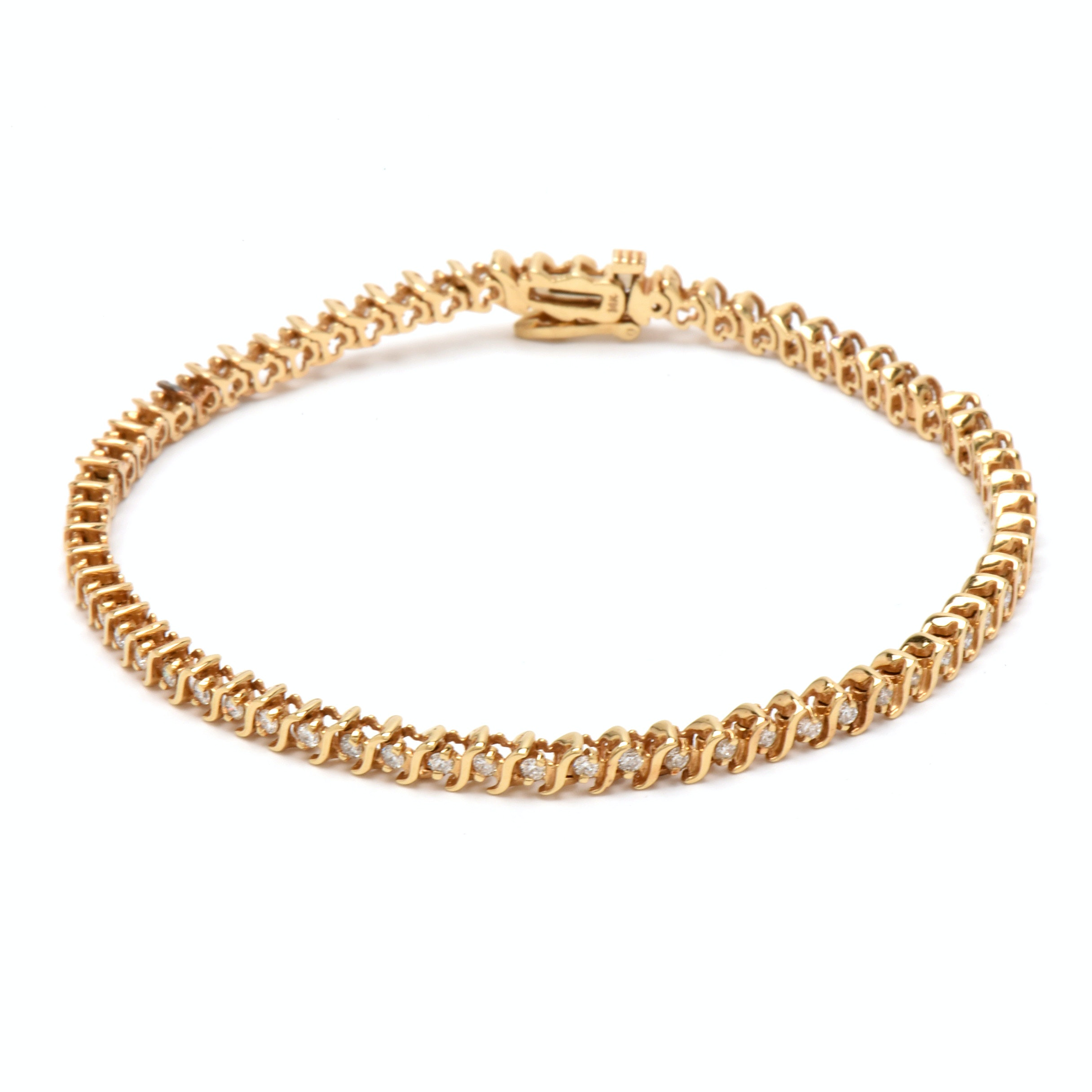 14K Yellow Gold 1.65 CTW Diamond Bracelet