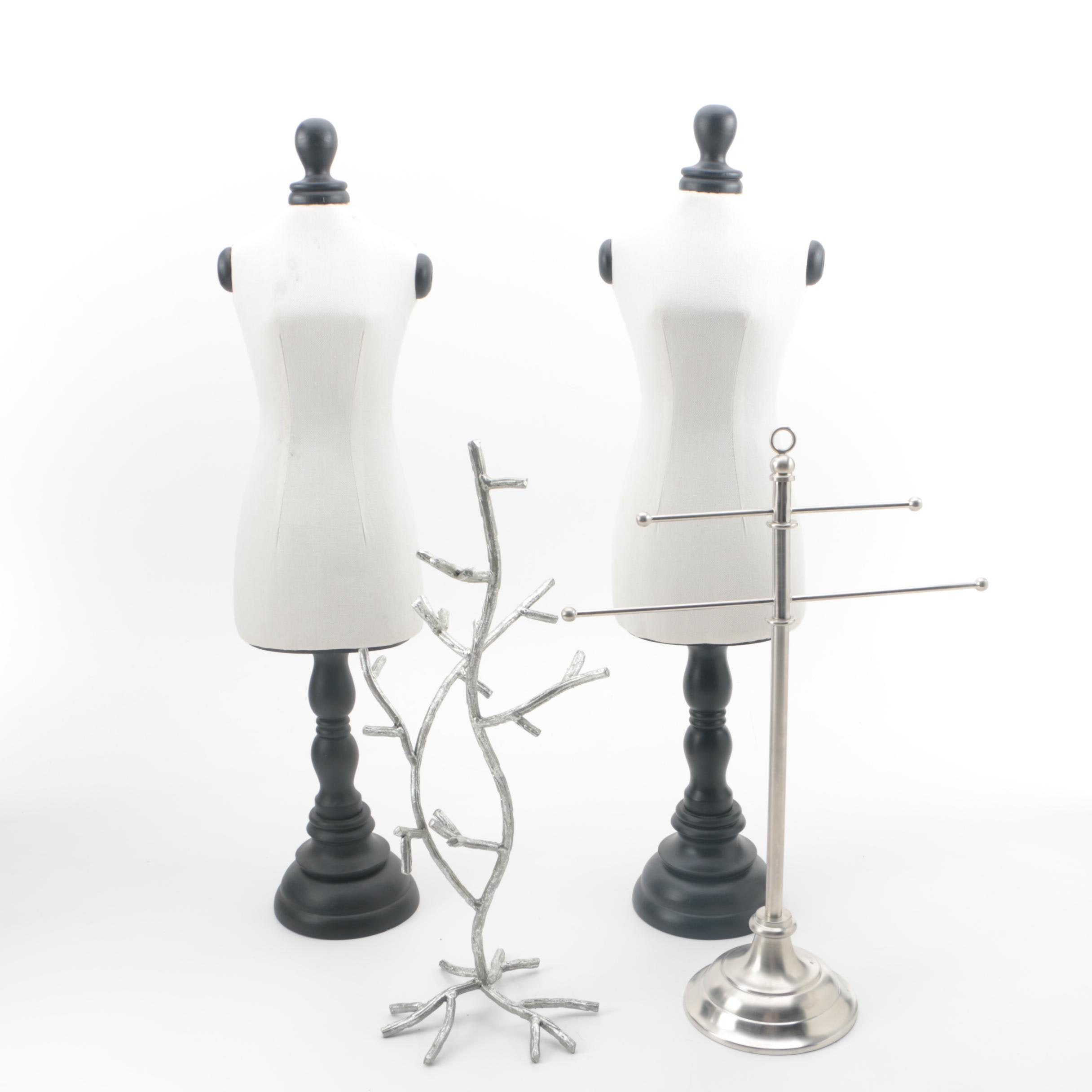 Jewelry Forms and Display Stands including Pottery Barn