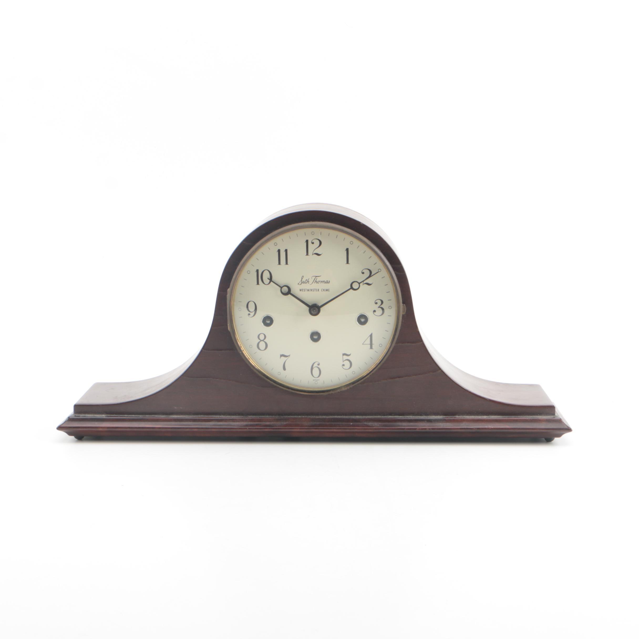 "Seth Thomas "" Woodbury"" Westminister Chime Tambour Clock"