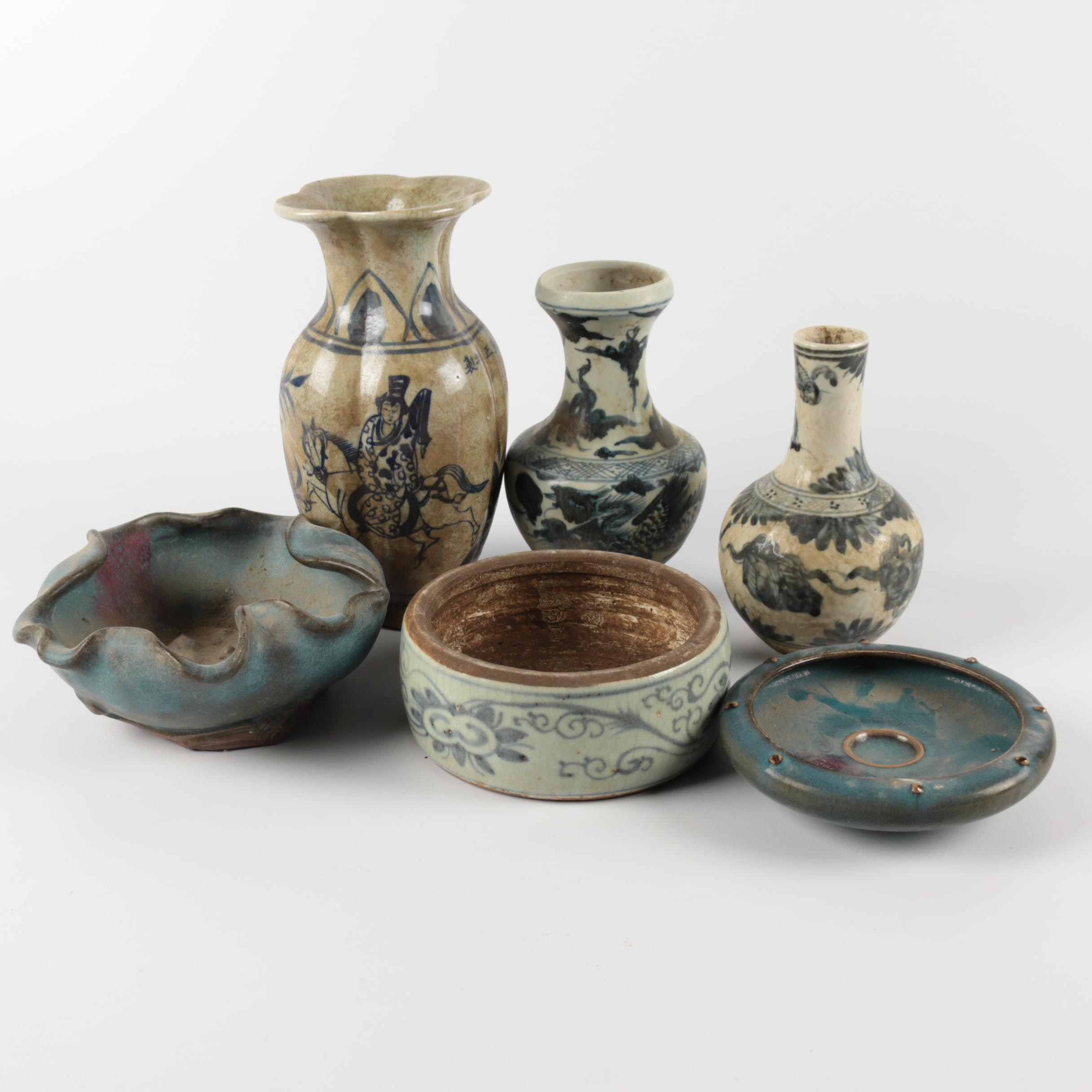 Chinese Decorative Ceramic Vases and Bowls