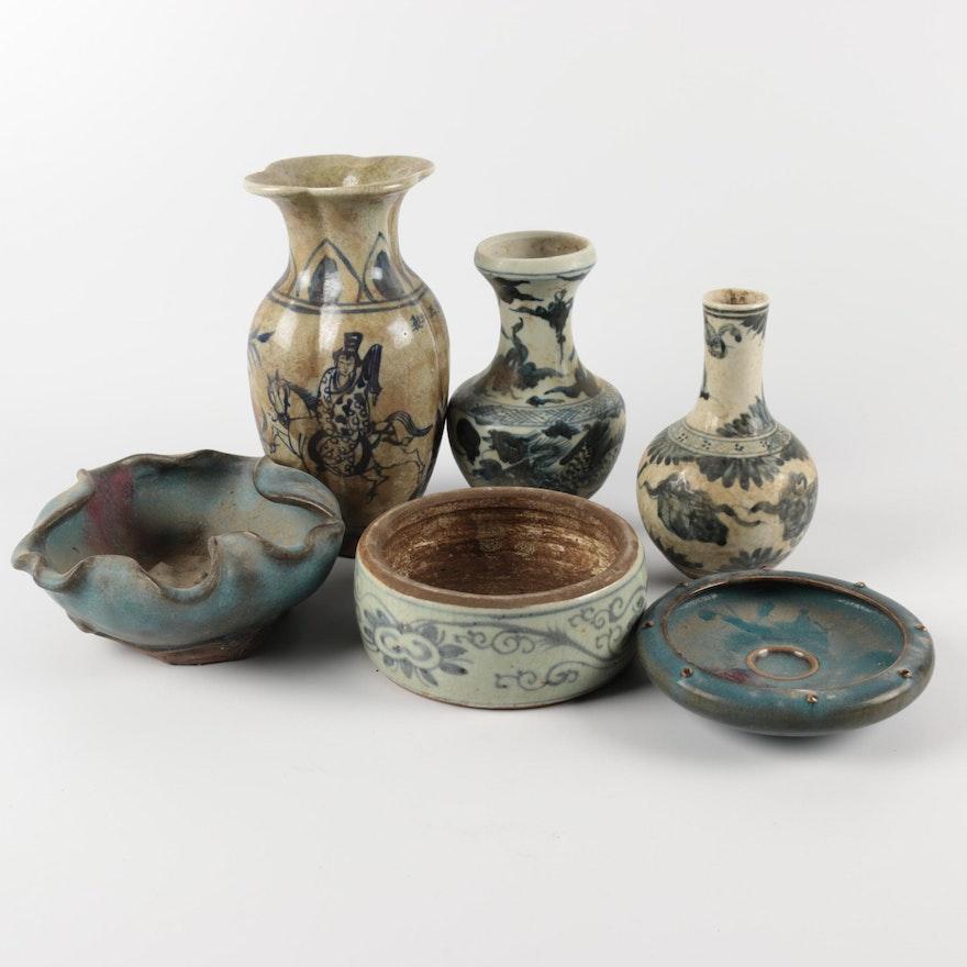 Chinese Decorative Ceramic Vases And Bowls Ebth