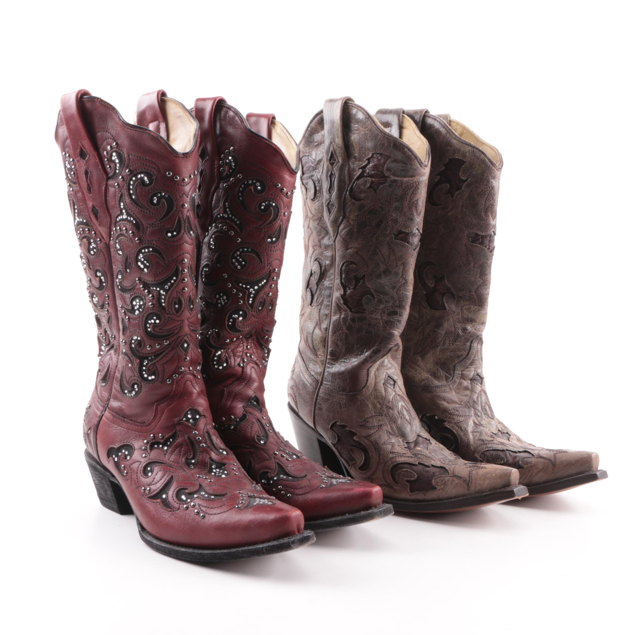 Women's Corral Leather Western Boots Made in Mexico
