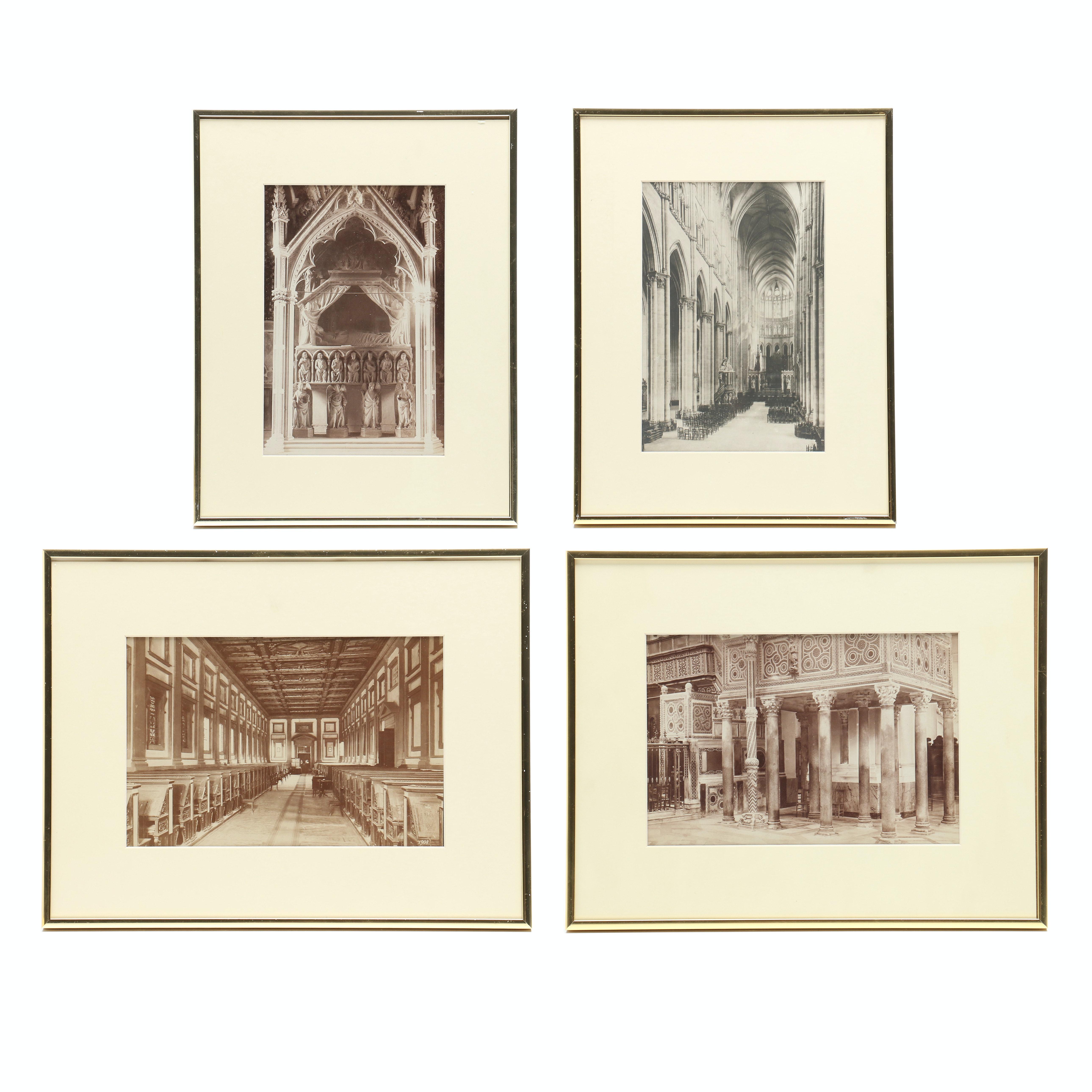 Four Silver Gelatin Photographs of European Architectural Interiors