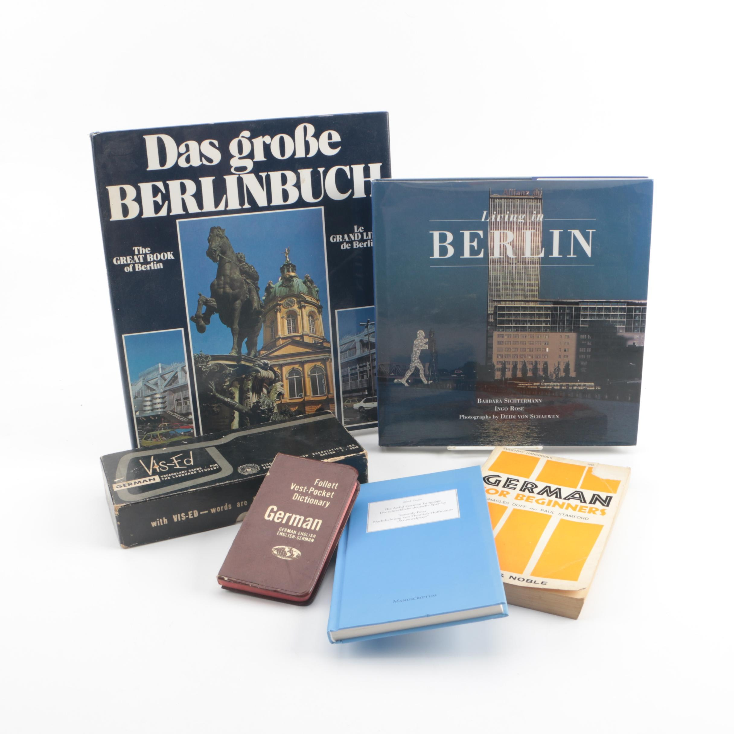 German Dictionary, Language Cards and Books