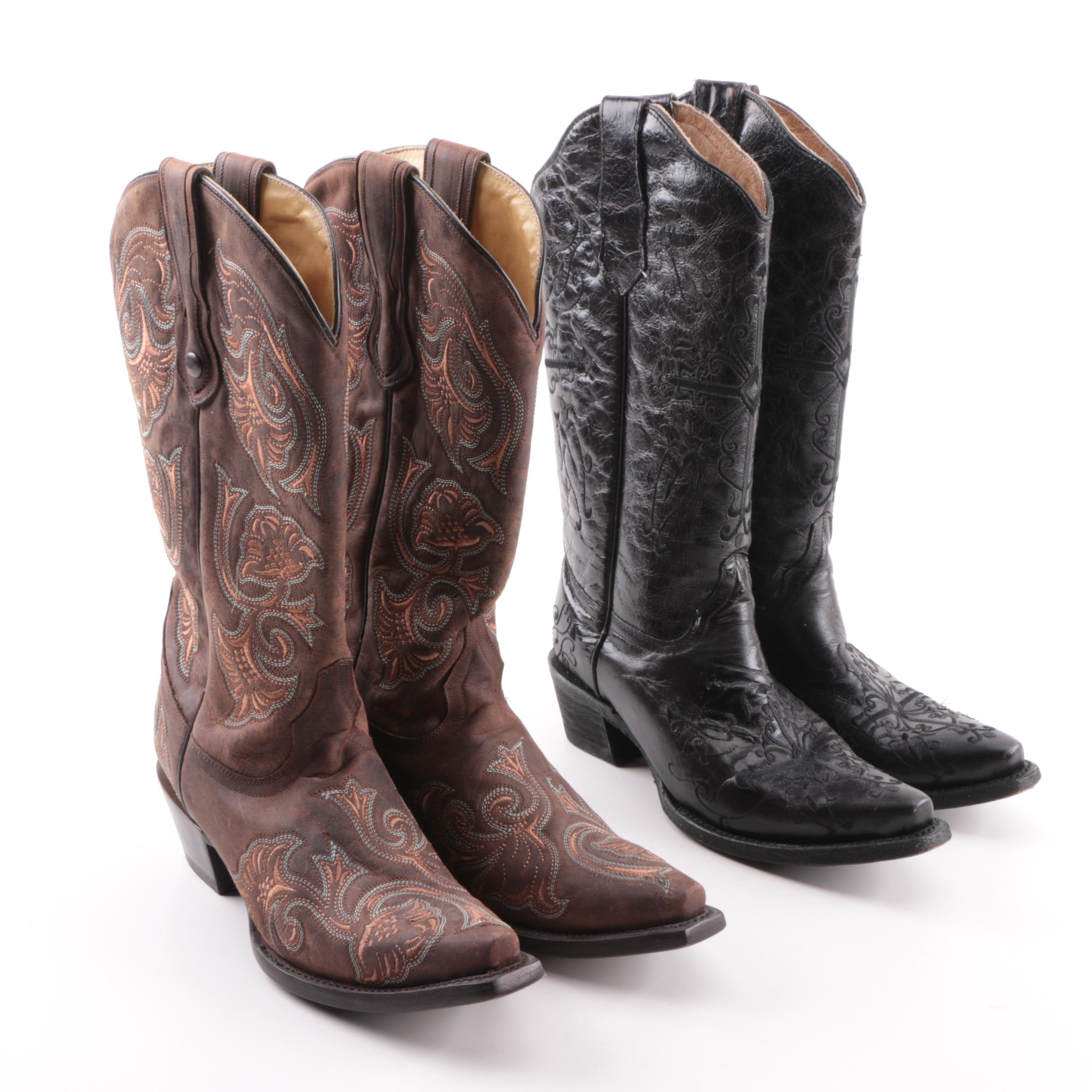 Women's Corral and Circle G Leather Western Boots