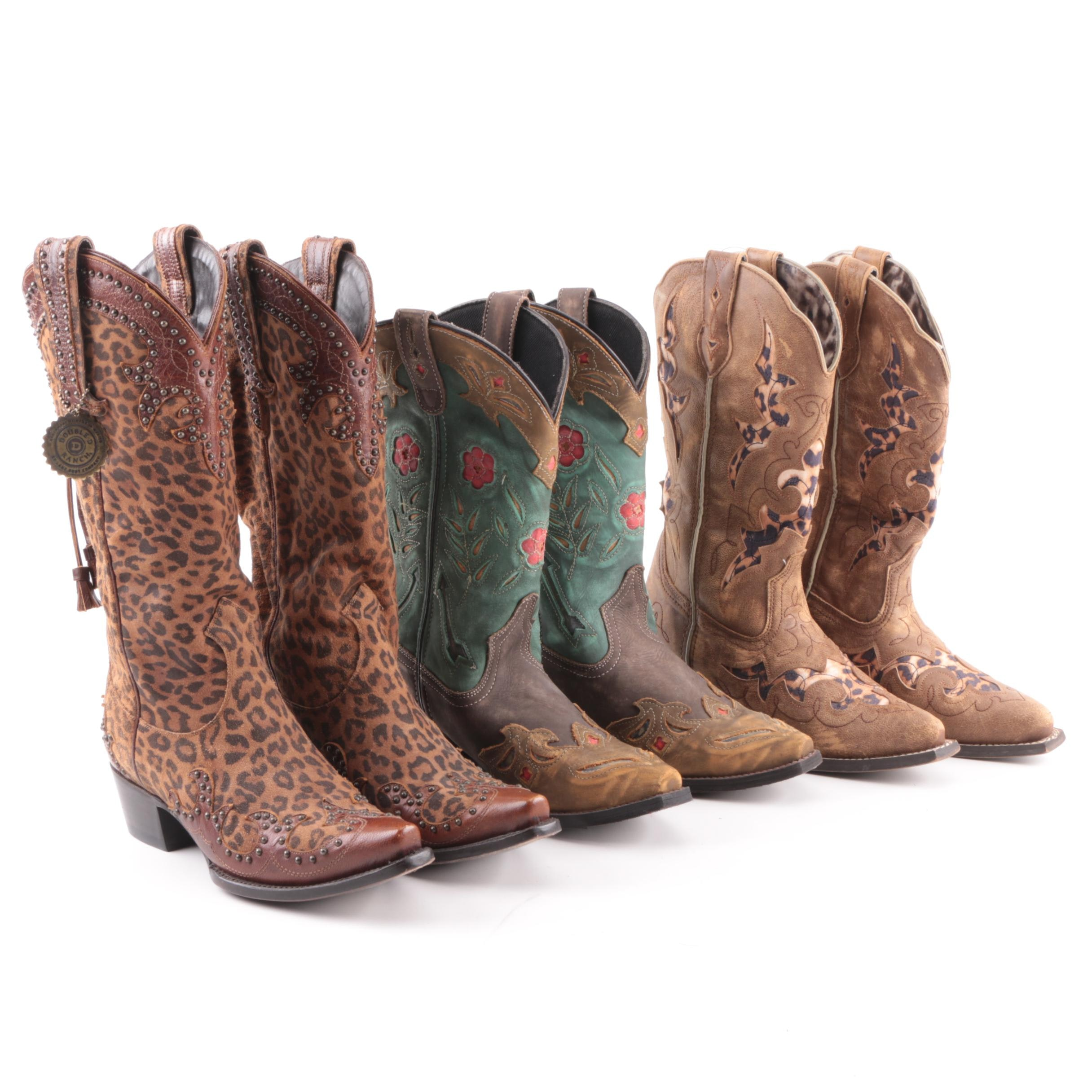 Women's Double D Ranch and Laredo Western Boots