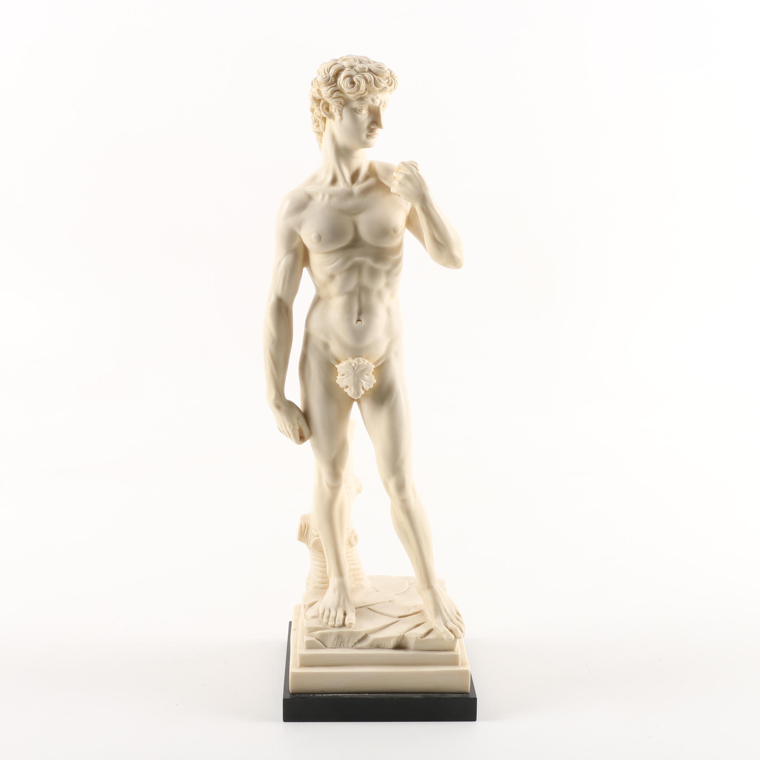 "G. Ruggeri Resin Sculpture After Michelangelo's ""David"""