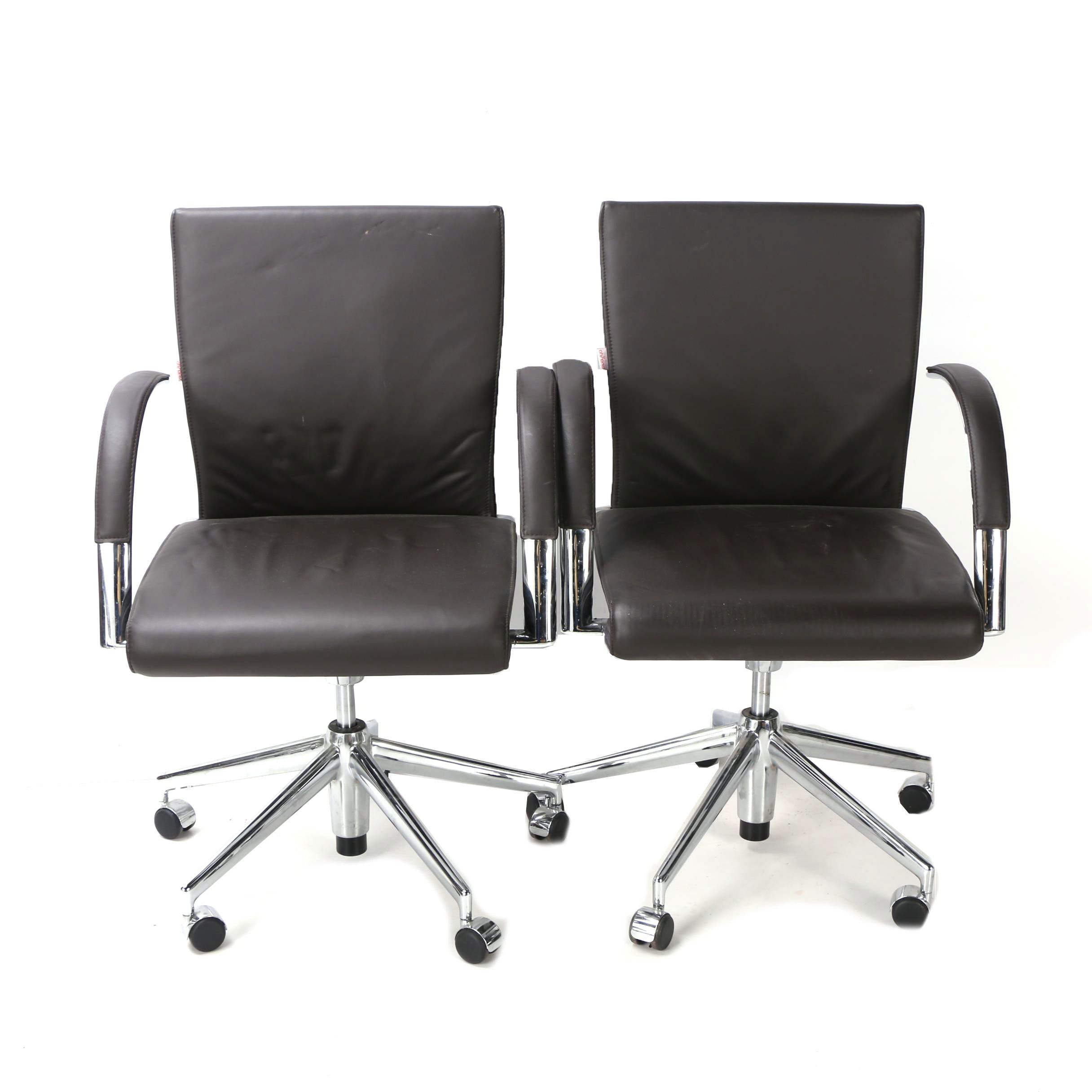 Black Faux Leather Office Chairs by Sigurd Rothe for Ahrend