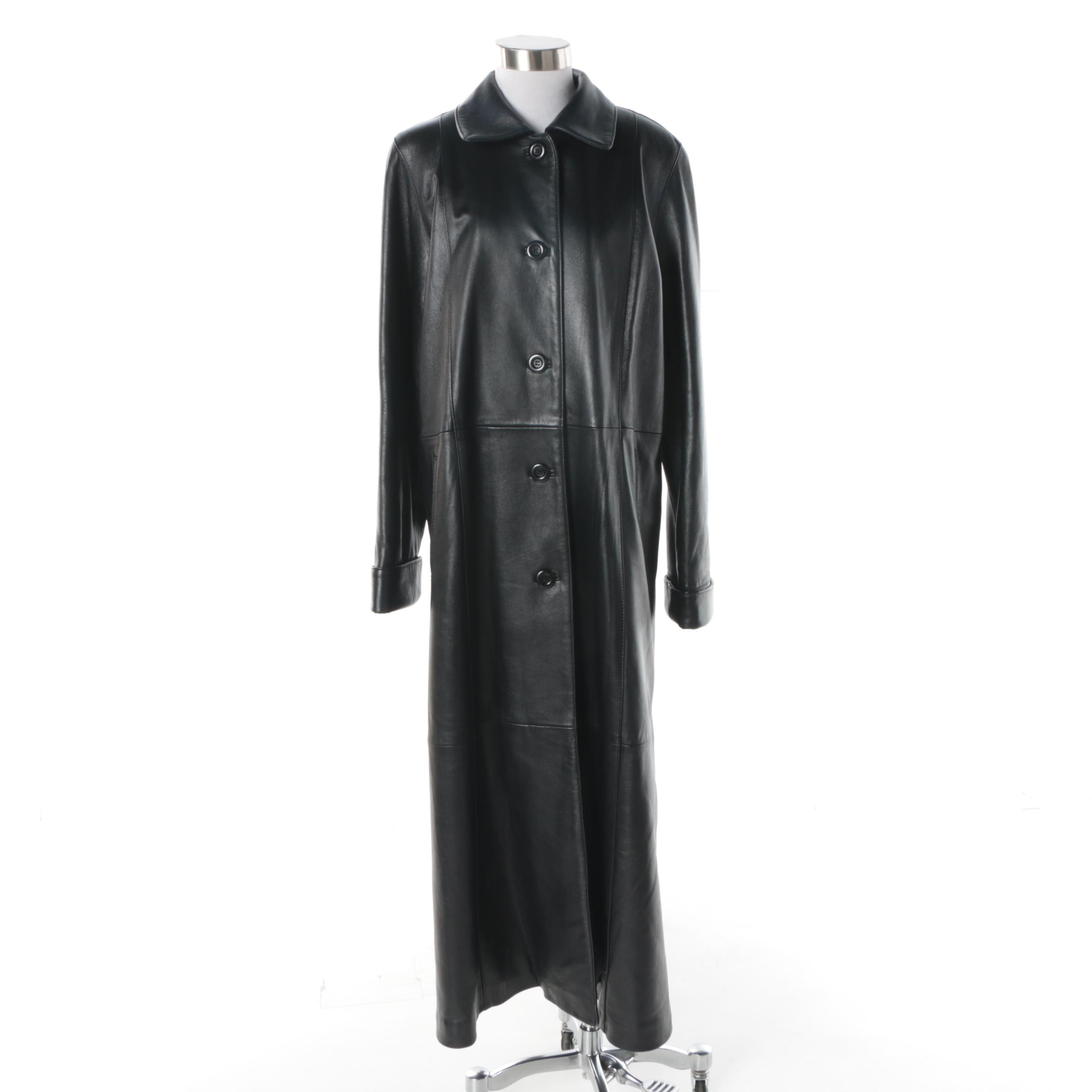 Women's Chosen Couture Collection Black Leather Coat