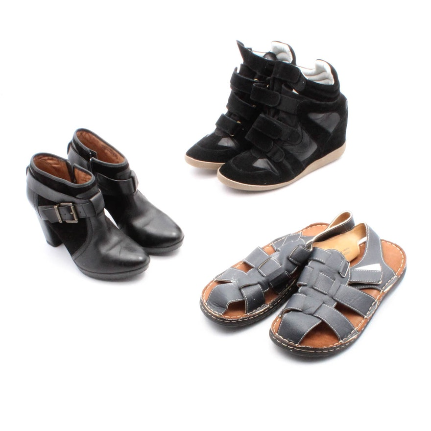 d5b89318d3b9 Three Pairs of Women s Shoes Including Clarks and Steve Madden   EBTH