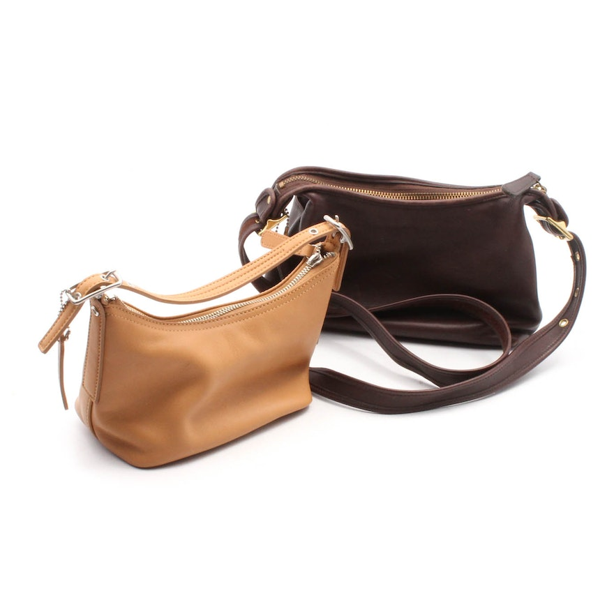 Coach Mini Tan Hobo and Vintage Legacy Mahogany Brown Leather Crossbody    EBTH a1f104d382780