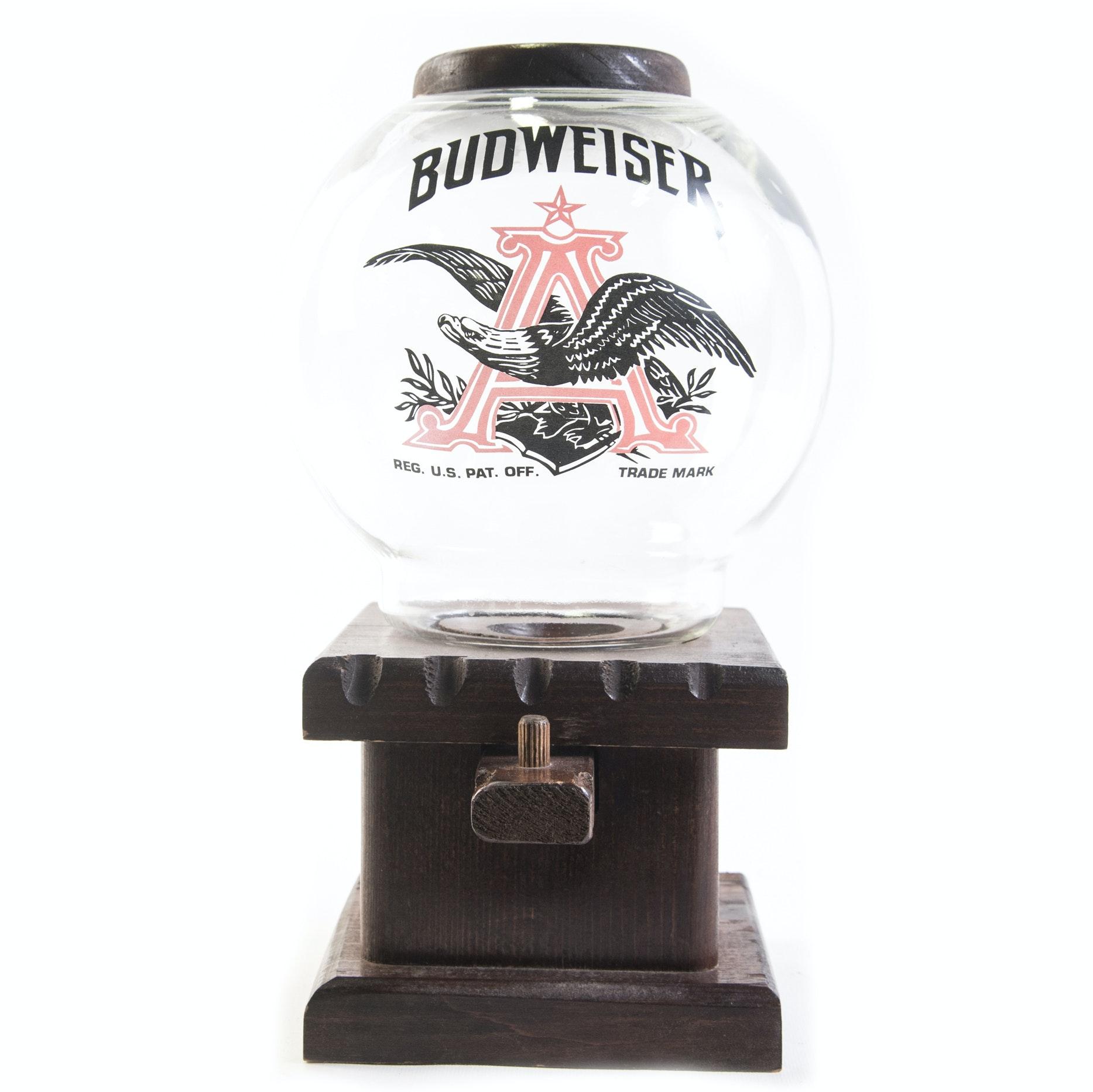 Vintage Budweiser Gumball Dispenser