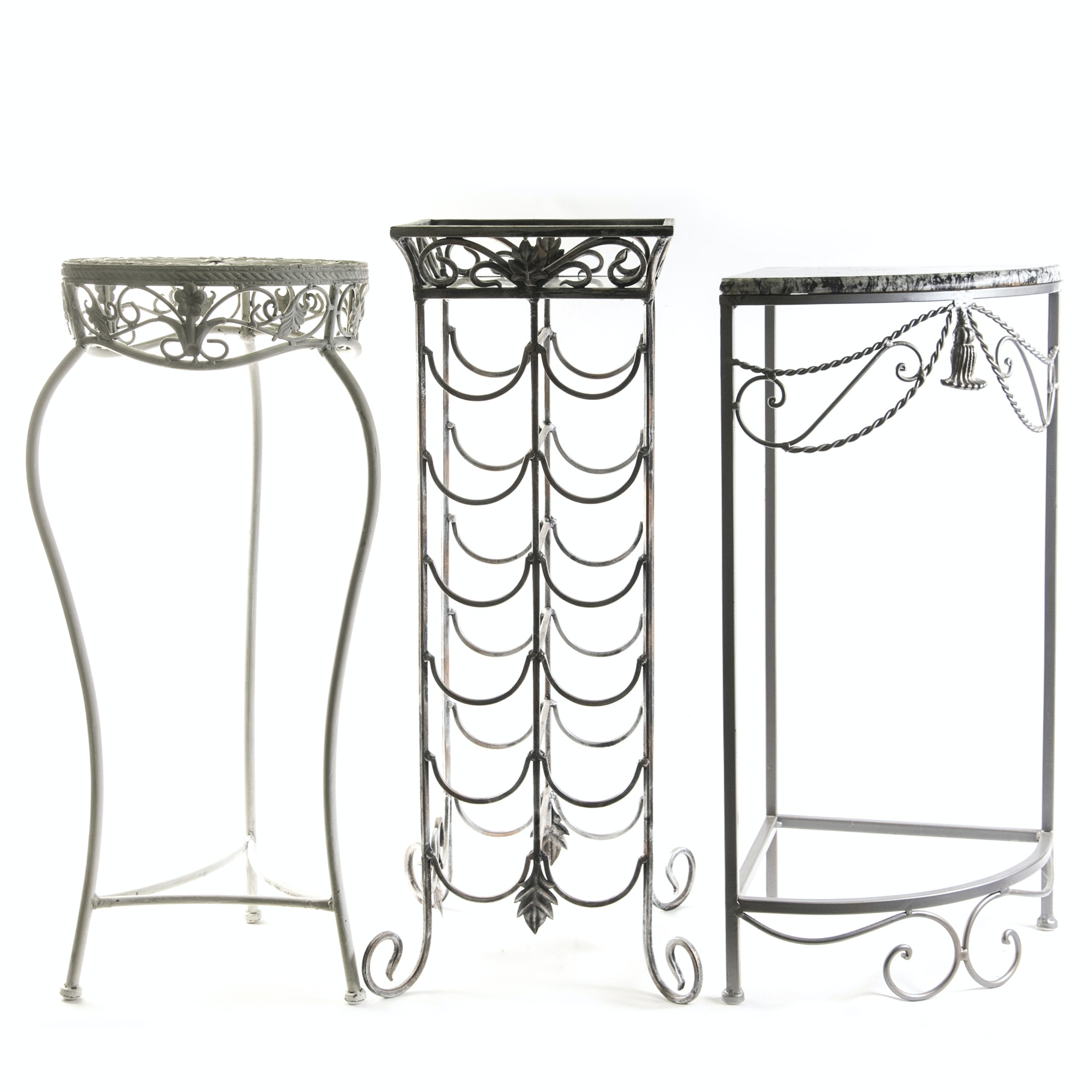 Wine Stand, Plant Stand, and a Corner Table