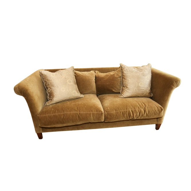 Green Upholstered Sofa by Crate & Barrel