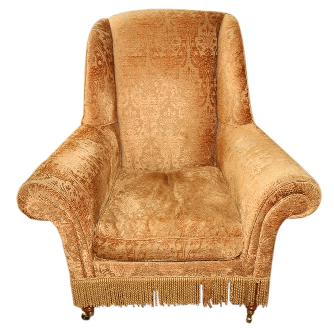 Lillian August Collection Brocade Upholstered Armchair