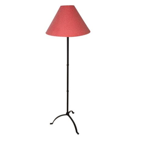 Black Metal Floor Lamp with Three Leg Base including Shade