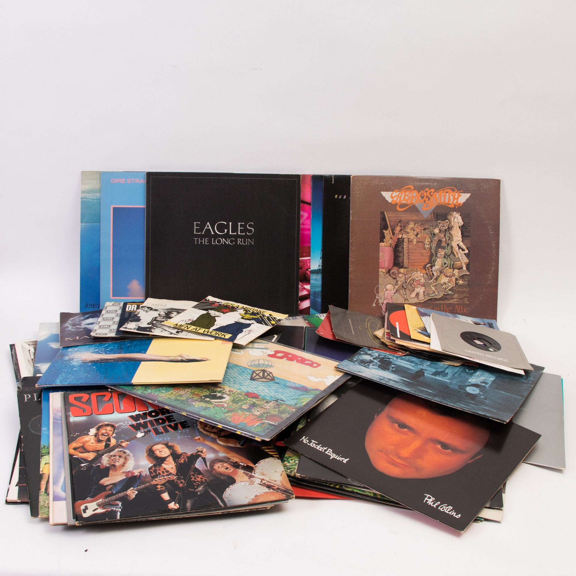 Assortment of 33 1/3 and 45 Records