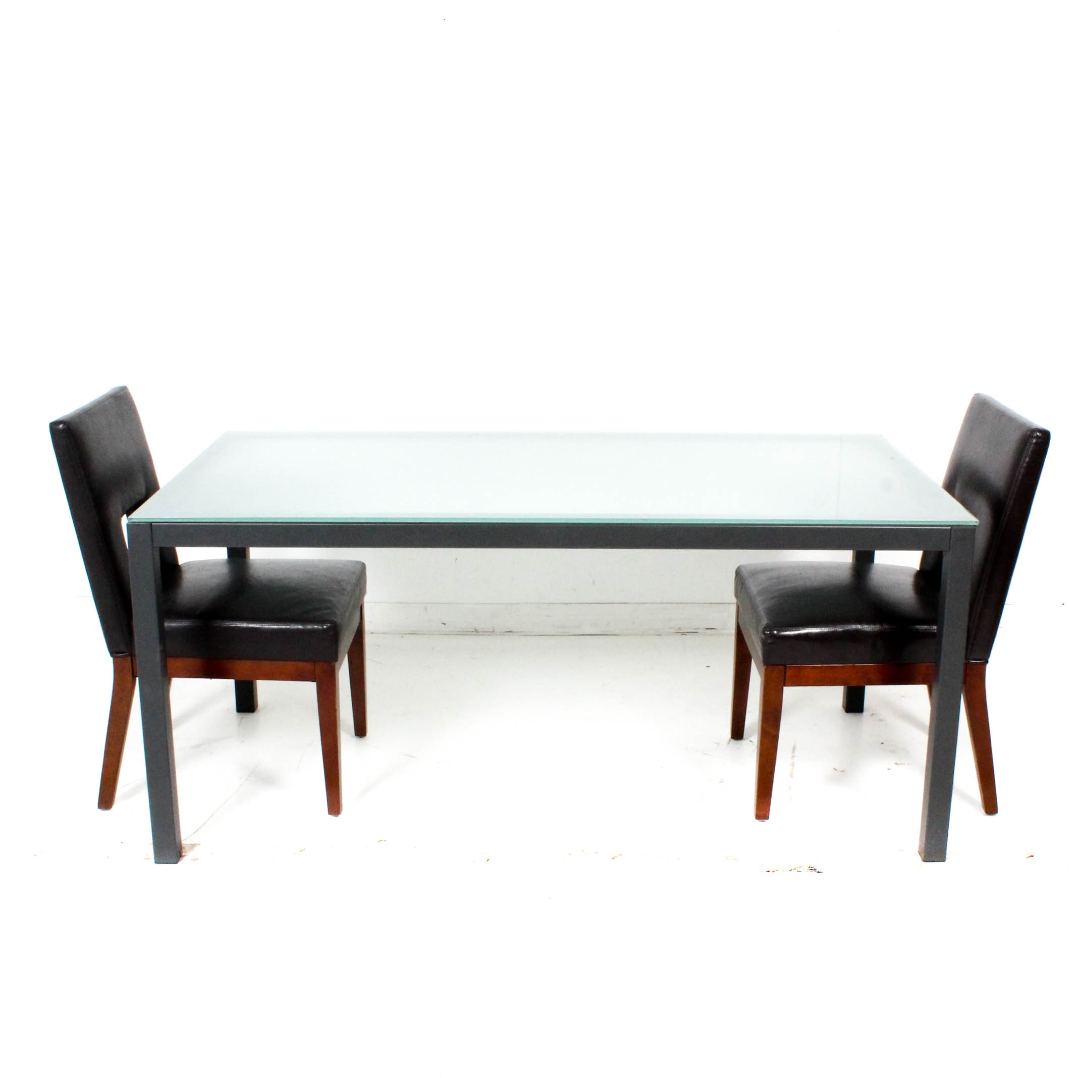 Glass Top Dining Table With Side Chairs