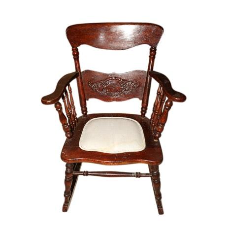 Pressback Oak Rocking Chair