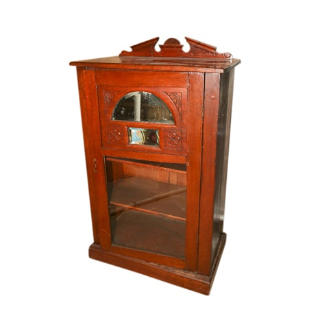 Early 20th Century Mirrored Mahogany Cabinet