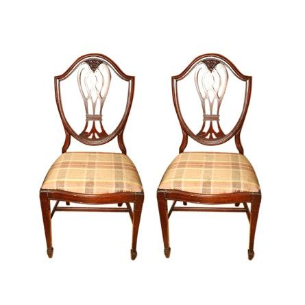 Vintage Hepplewhite Style Side Chairs