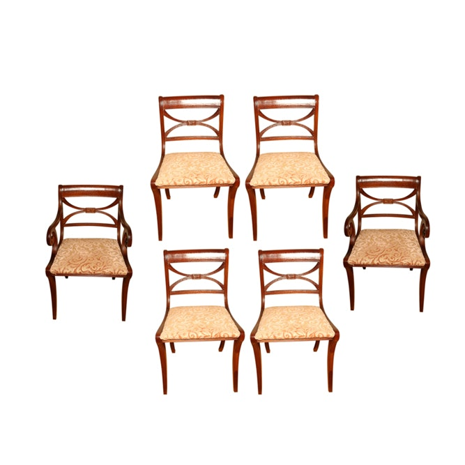 Vintage Regency Style Dining Chairs