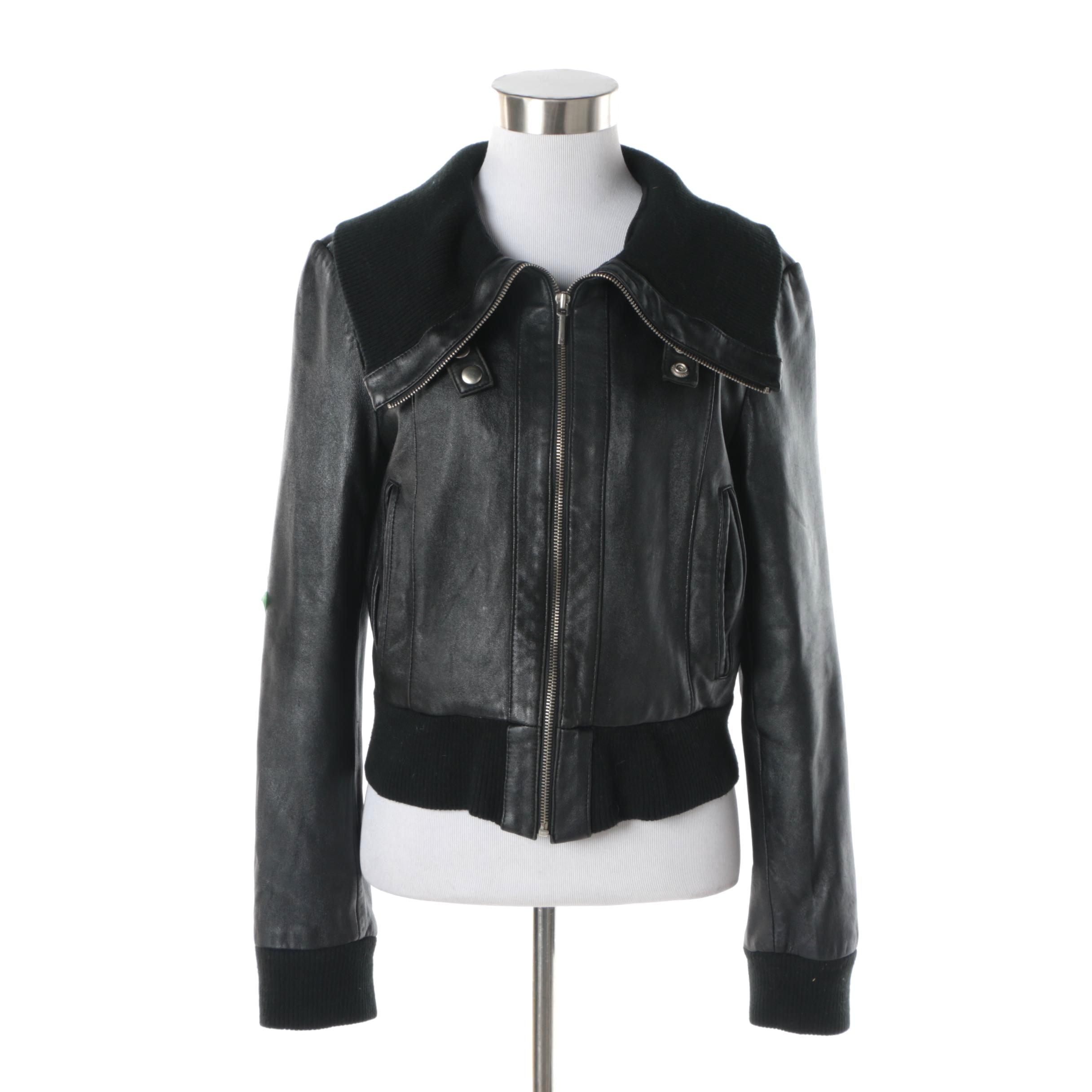 Women's W New York by Winlit Black Leather Jacket