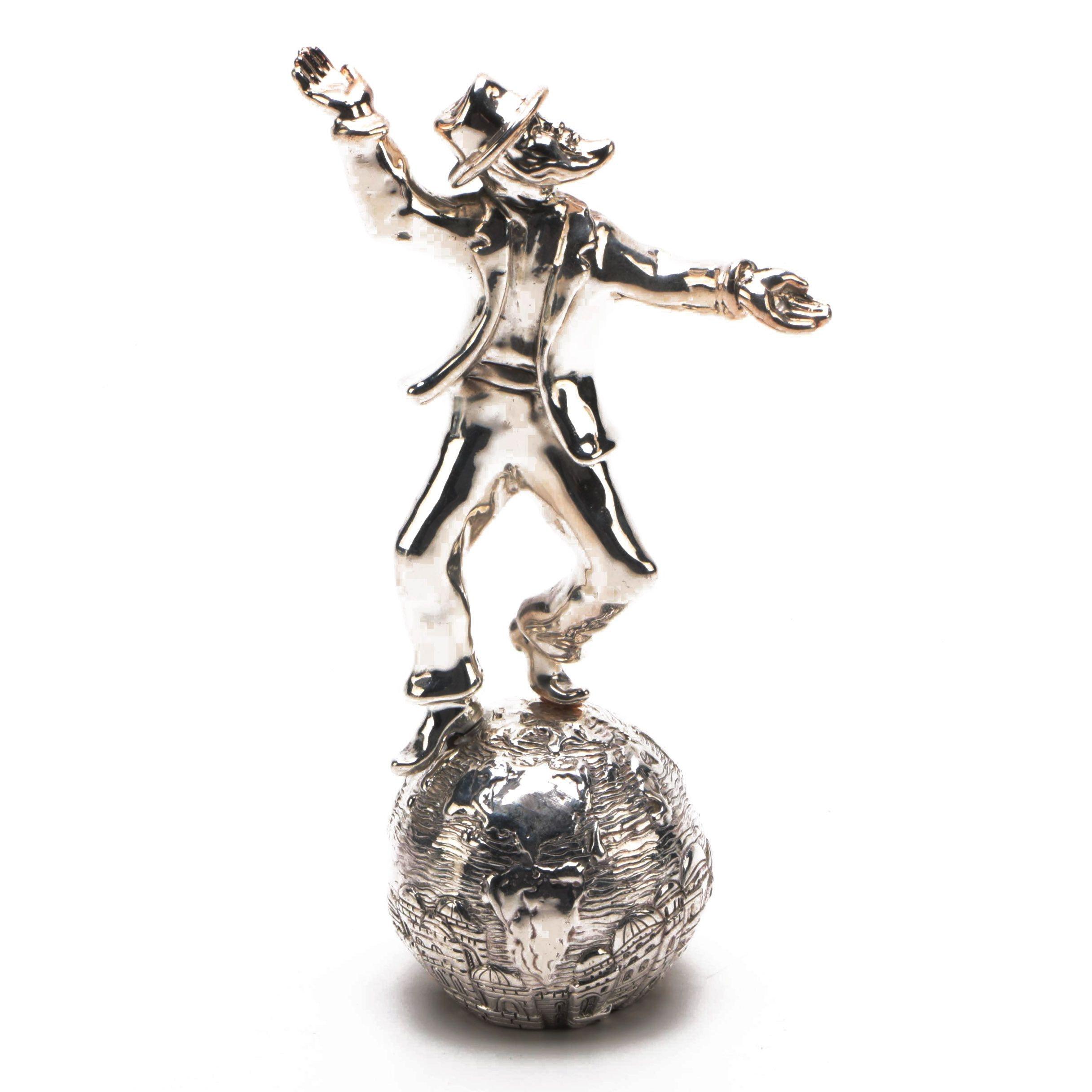 Raphael Abecassis Silver Plate Judaism Figurine