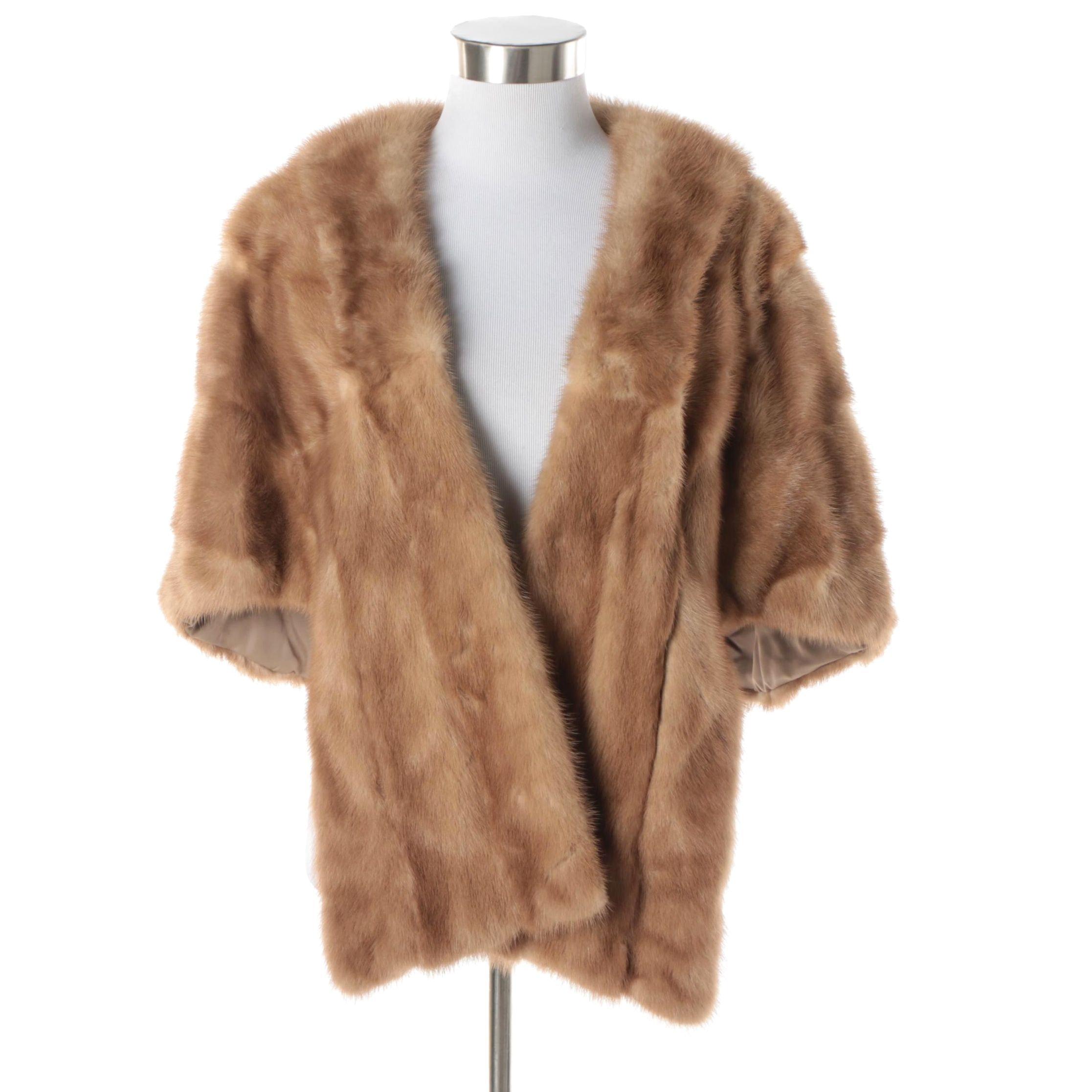 Women's Vintage Mano Swartz Mink Fur Stole