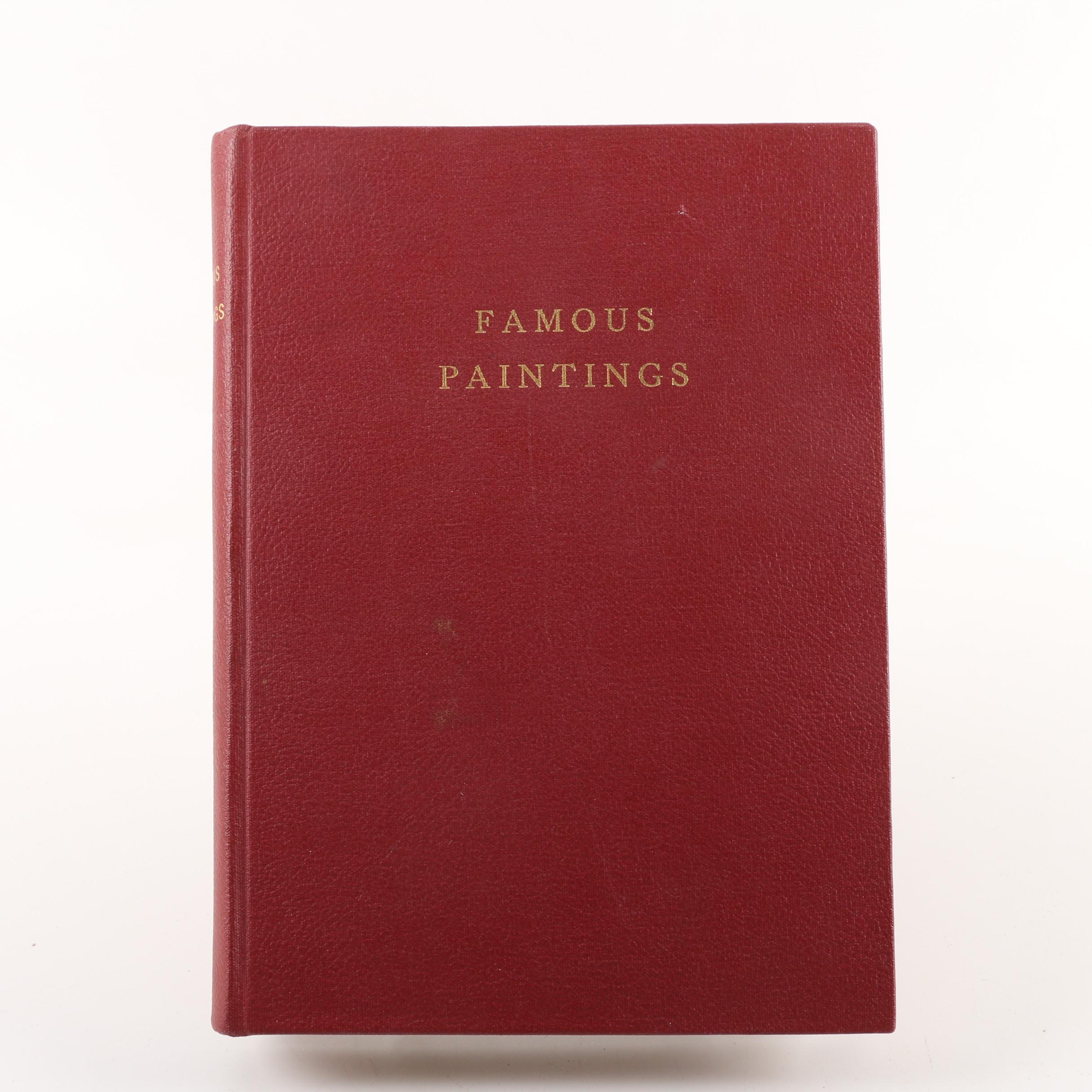 """Early 20th Century """"Famous Paintings"""" Art Book"""