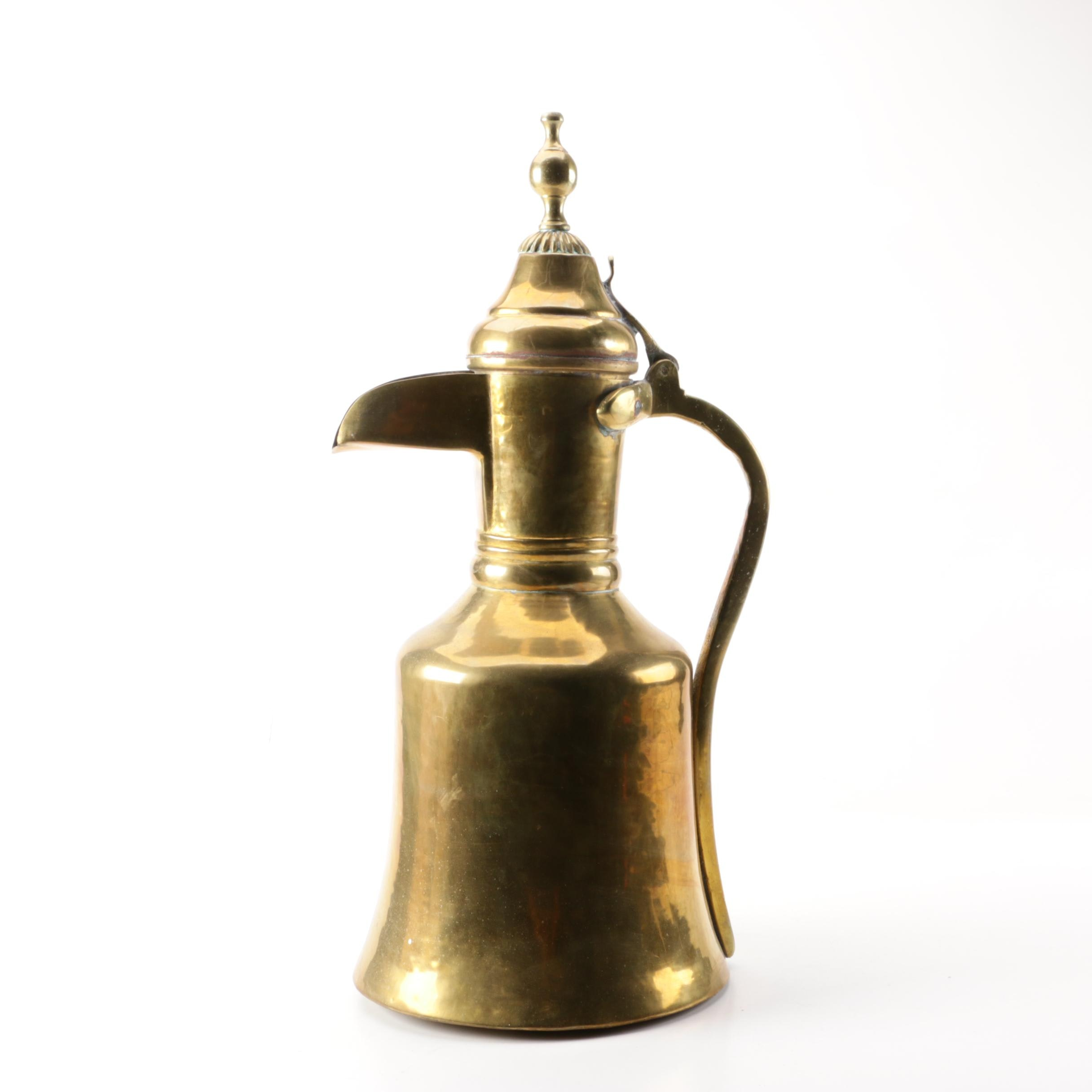 Turkish Style Brass Dallah Coffee Pot