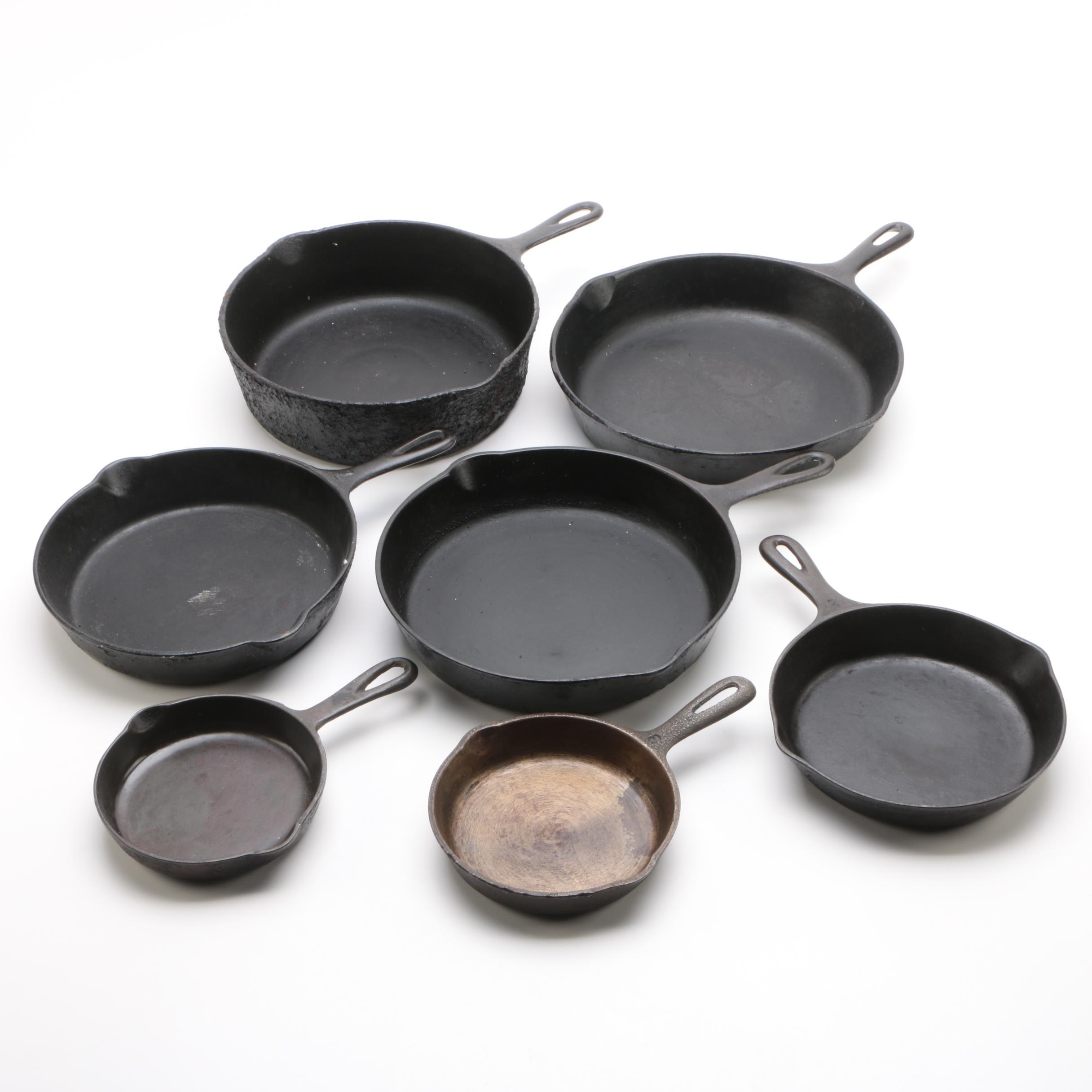 Cast Iron Skillets Including Wagner Ware and Martin