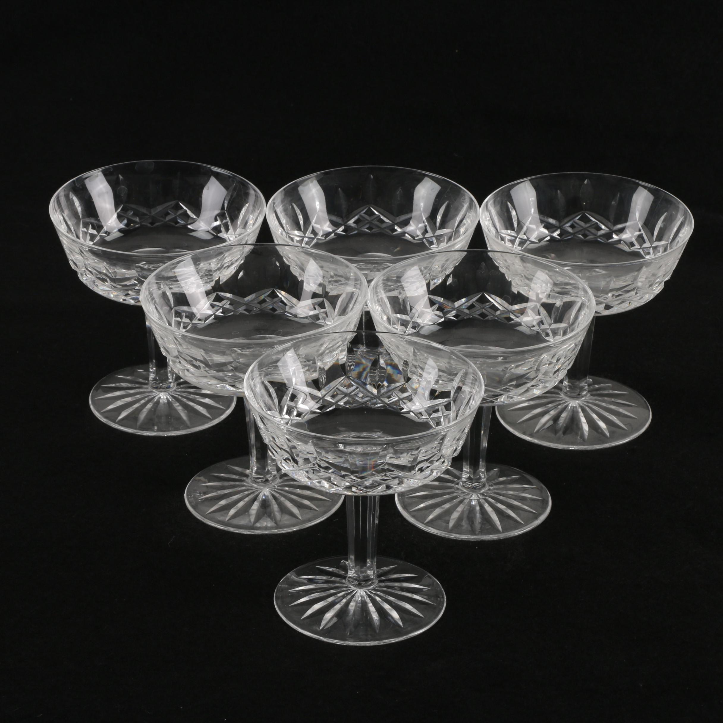 """Waterford Crystal """"Lismore"""" Champagne Coupe"""