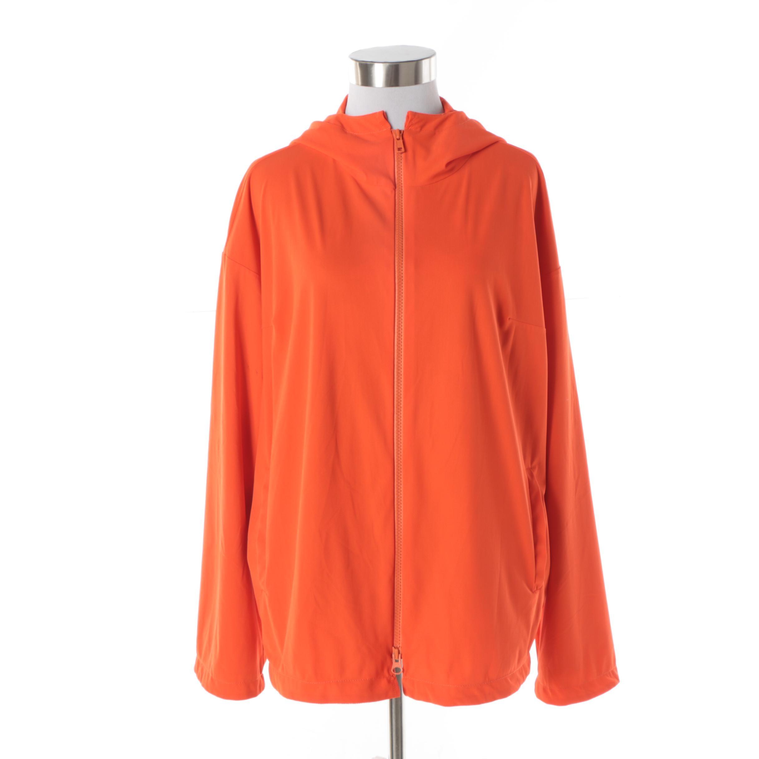 Women's Roberto Cavalli Freedom Orange Zip-Front Hooded Jacket