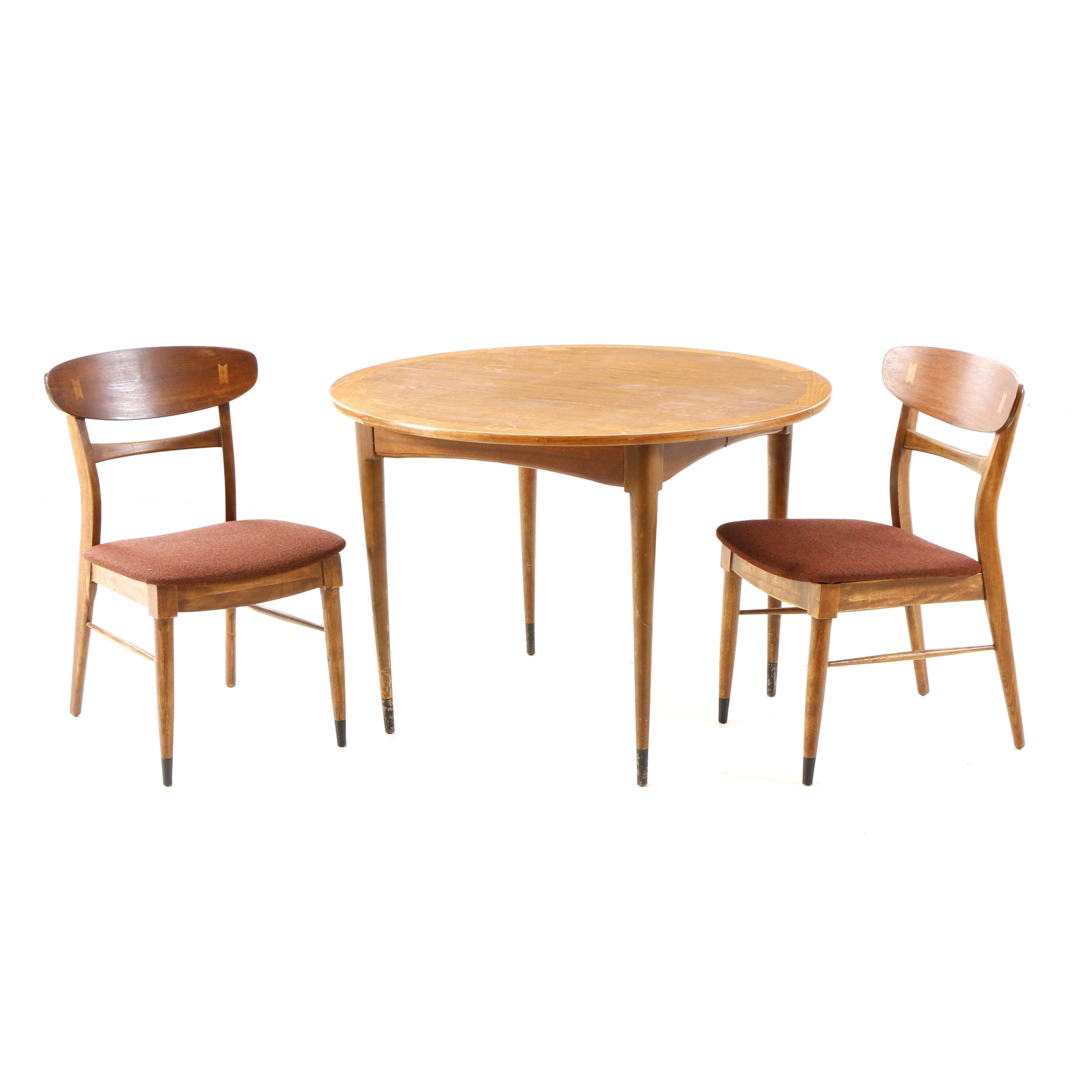 "Lane ""Acclaim"" Dining Table and Two Side Chairs"