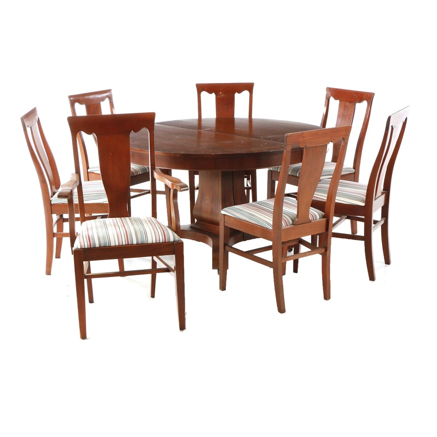 Empire Style Dining Table And Six Chairs
