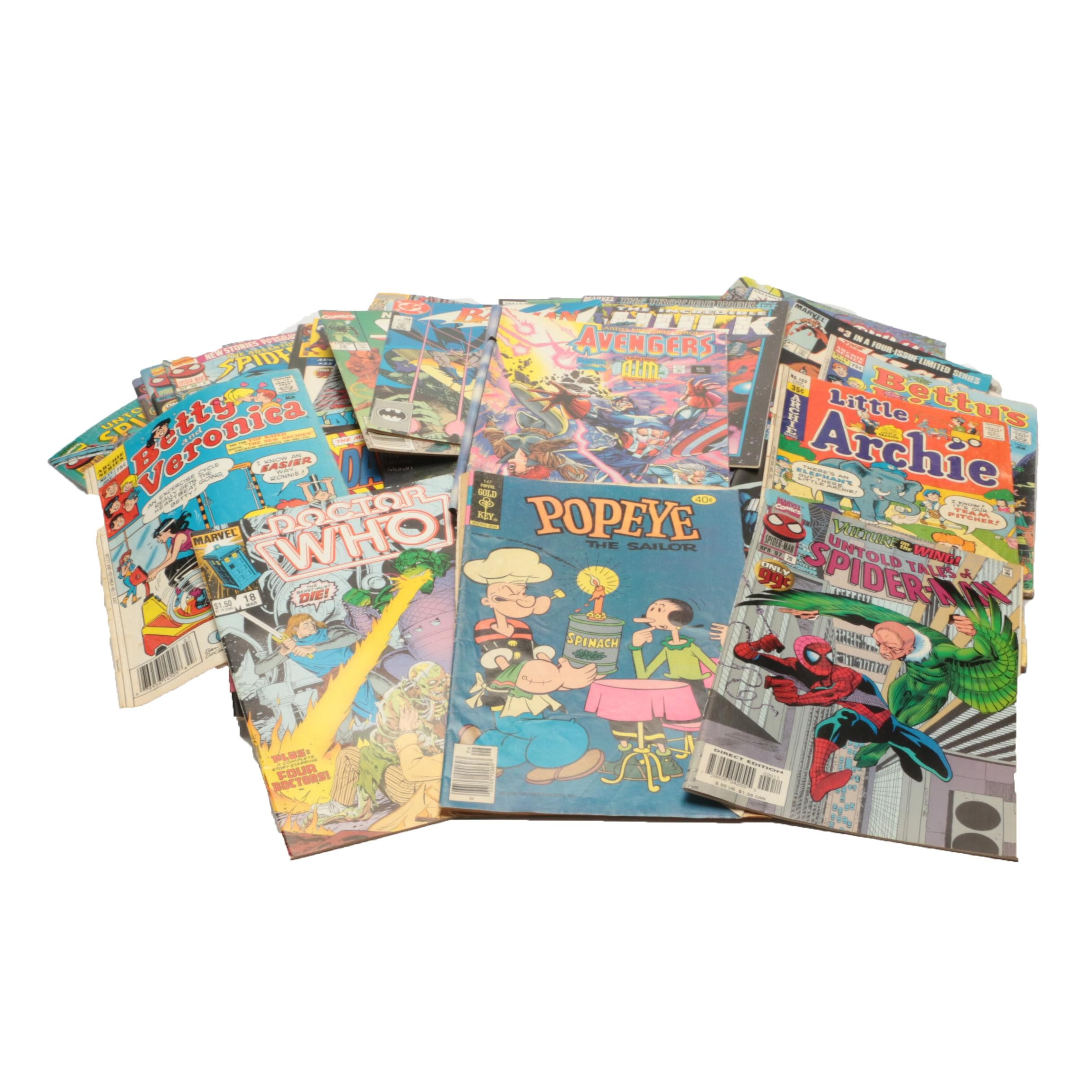 """Assorted Comic Books Featuring """"Spiderman"""", """"Avengers"""", and Walt Disney"""""""