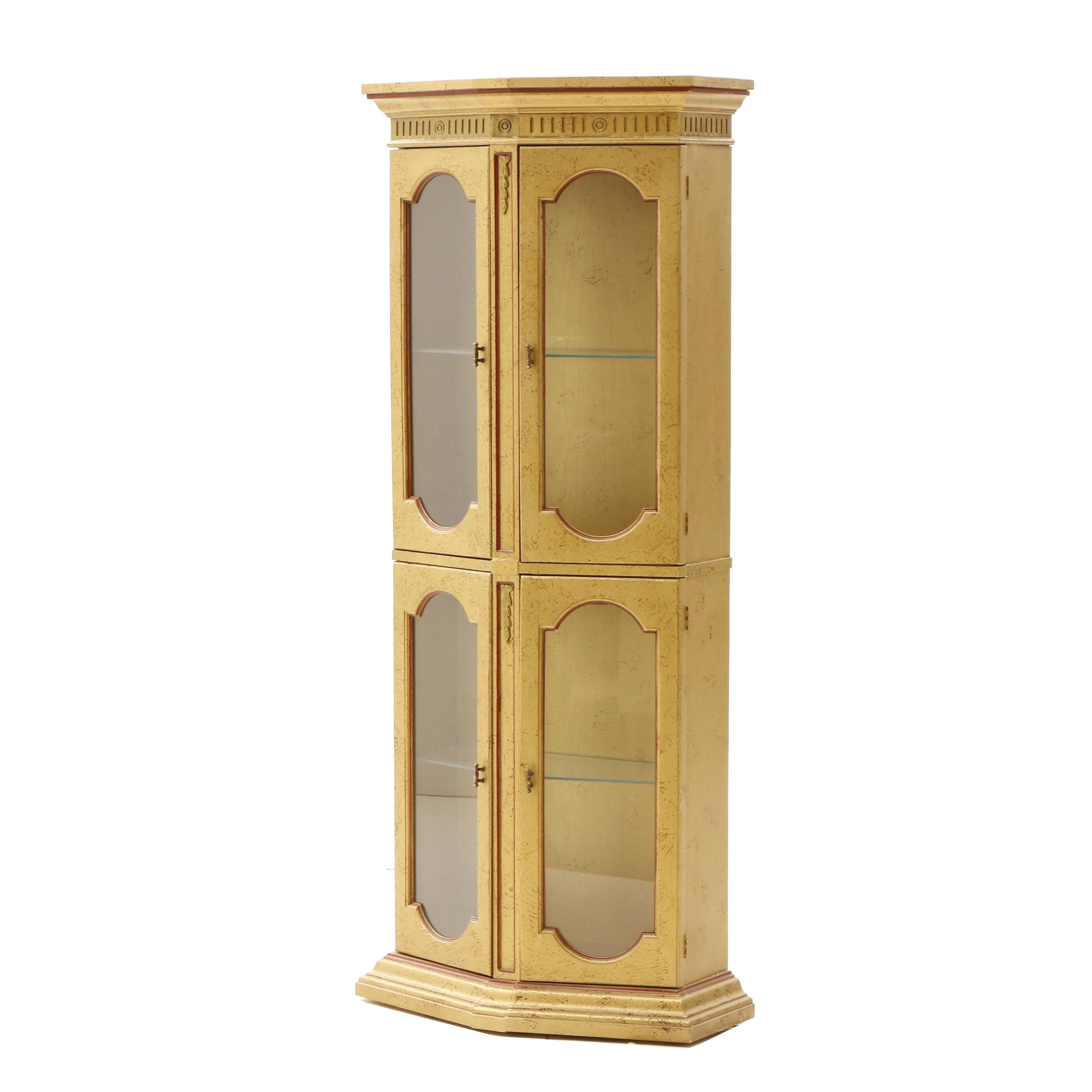 Gold Painted Display Cabinet