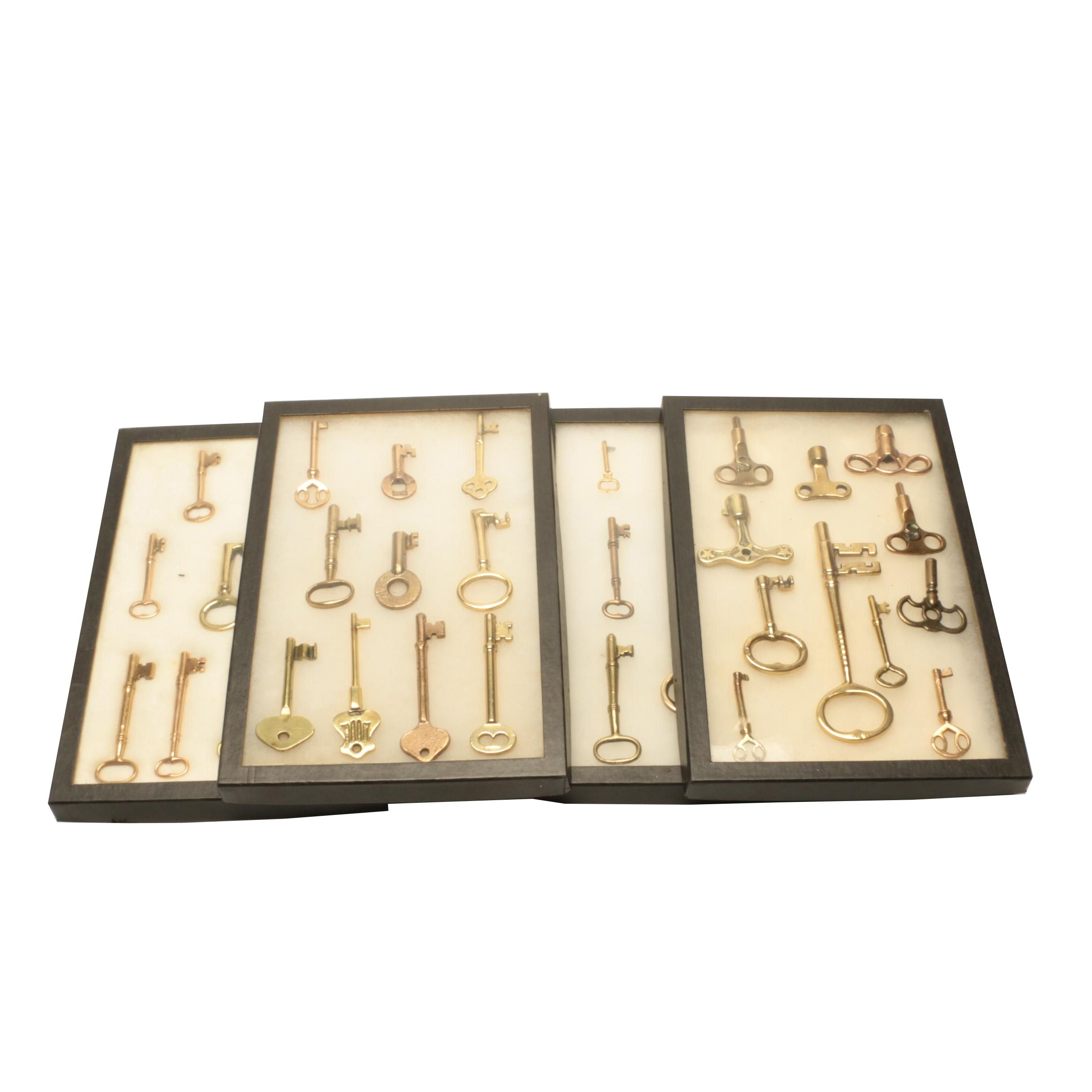 Collection of Skeleton and Clock Keys