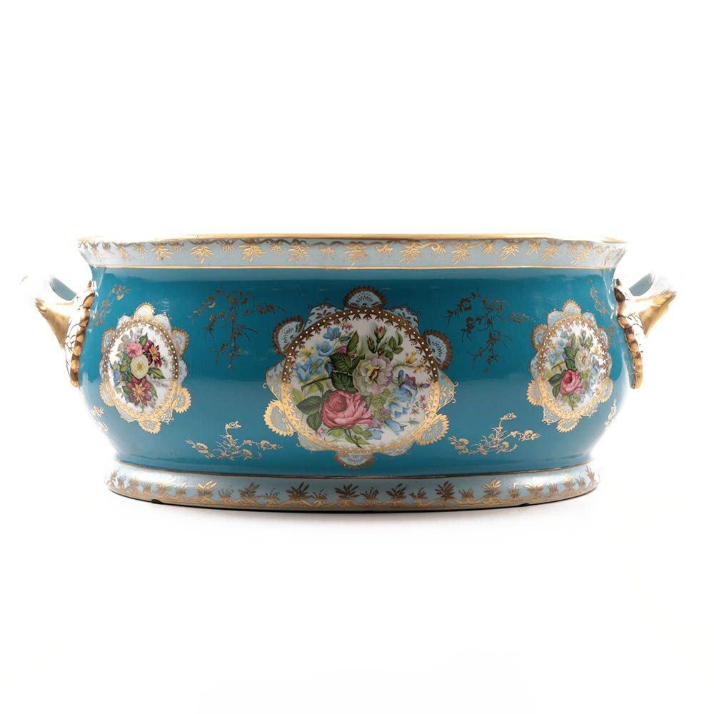 Modern Royal Vienna Porcelain Transferware Wine Cistern