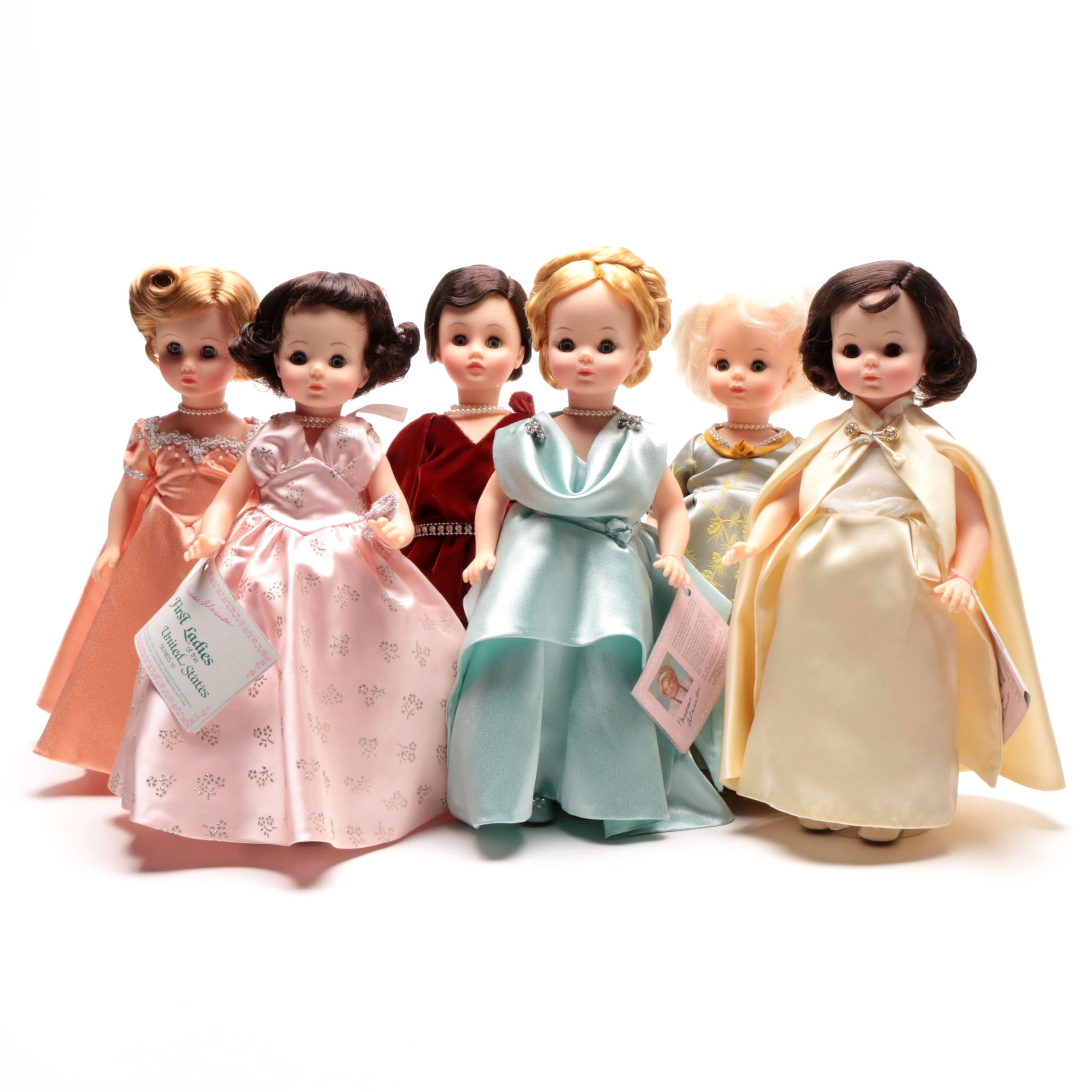 """Madame Alexander's Series VI """"First Lady Doll Collection"""" Selection of Six Dolls"""