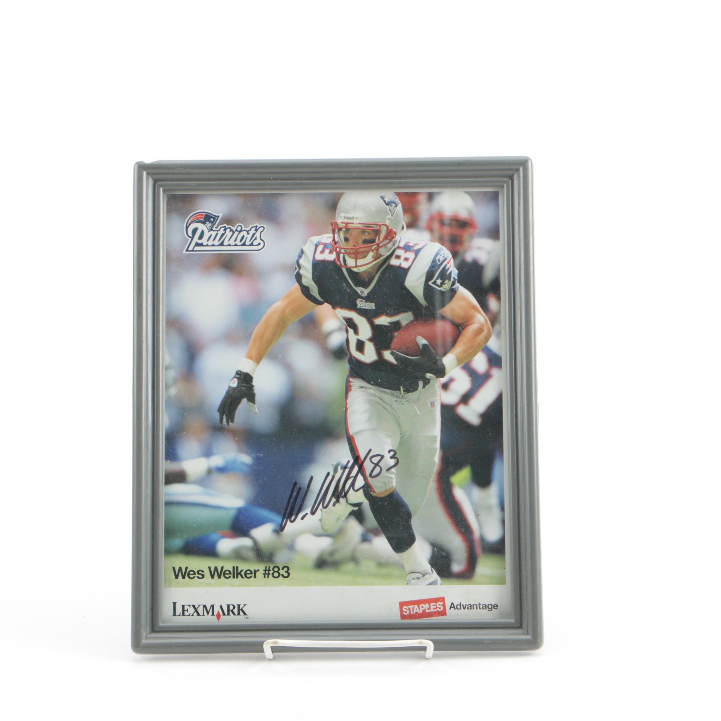Wes Welker Autographed Offset Lithograph