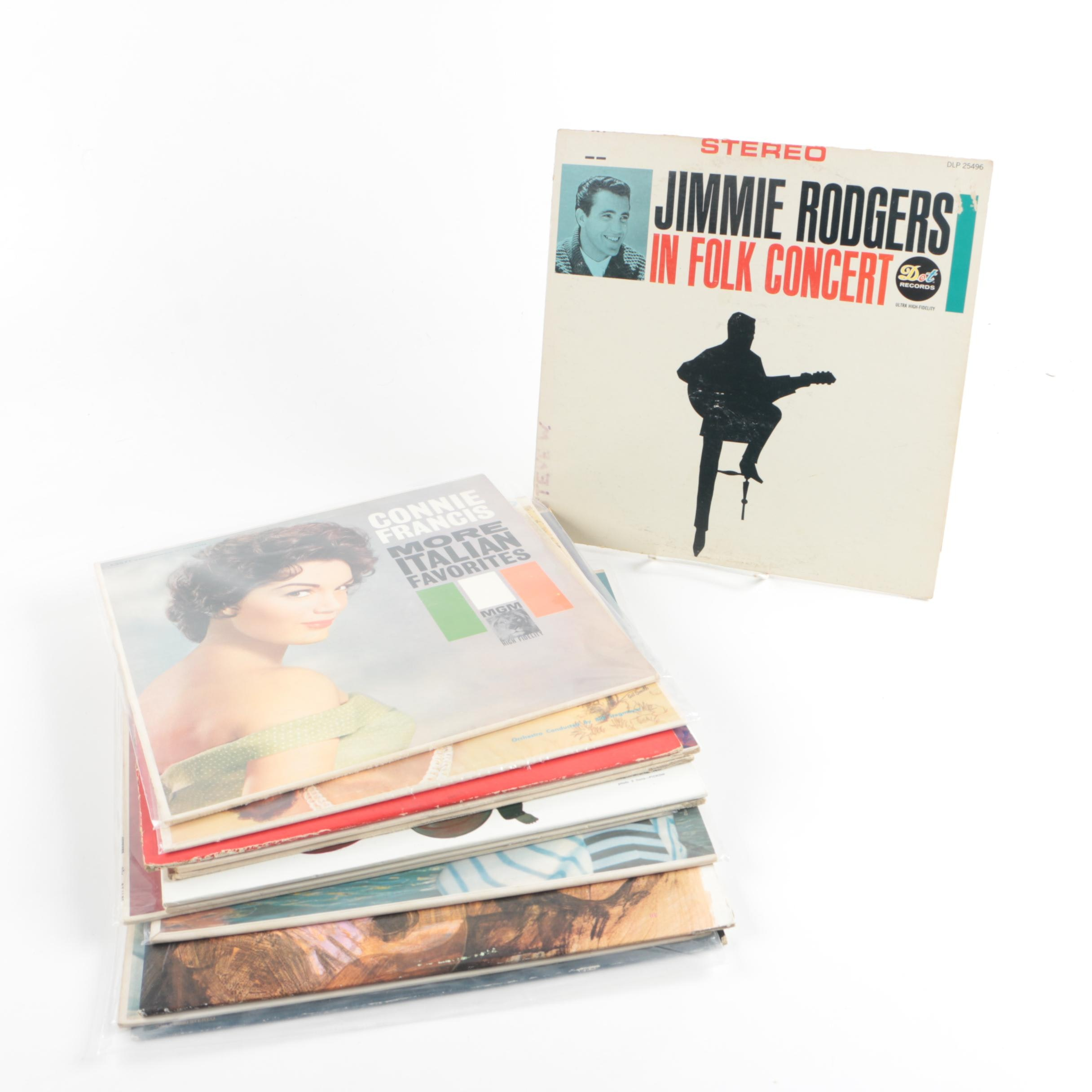 Vintage Pop, Calypso and Folk Records Including Jimmie Rodgers and Henry Mancini