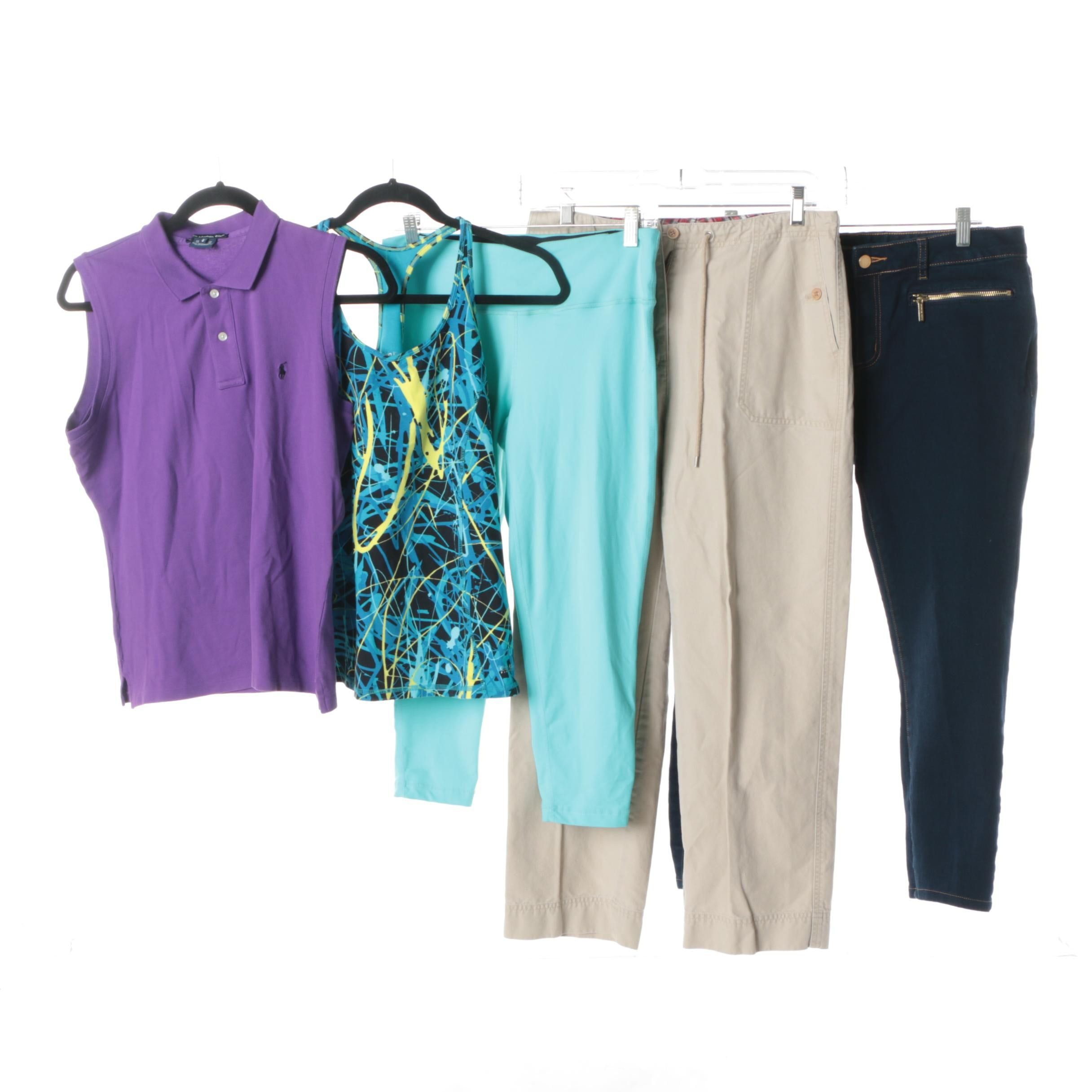 Women's Activewear and Pants Including MICHAEL Michael Kors and Calvin Klein