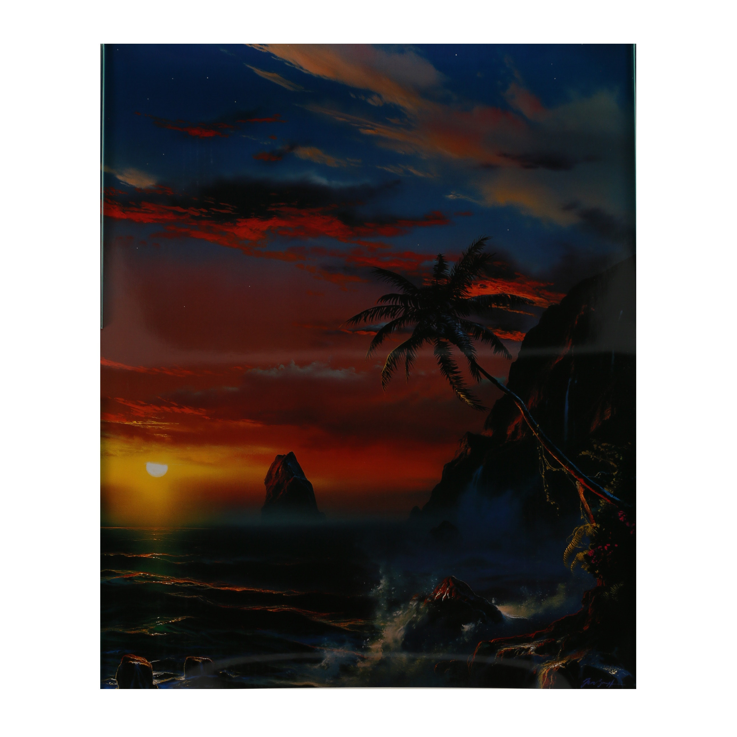 "Offset Lithograph After Dale Terbush ""When Twilight Turns to Paradise"""