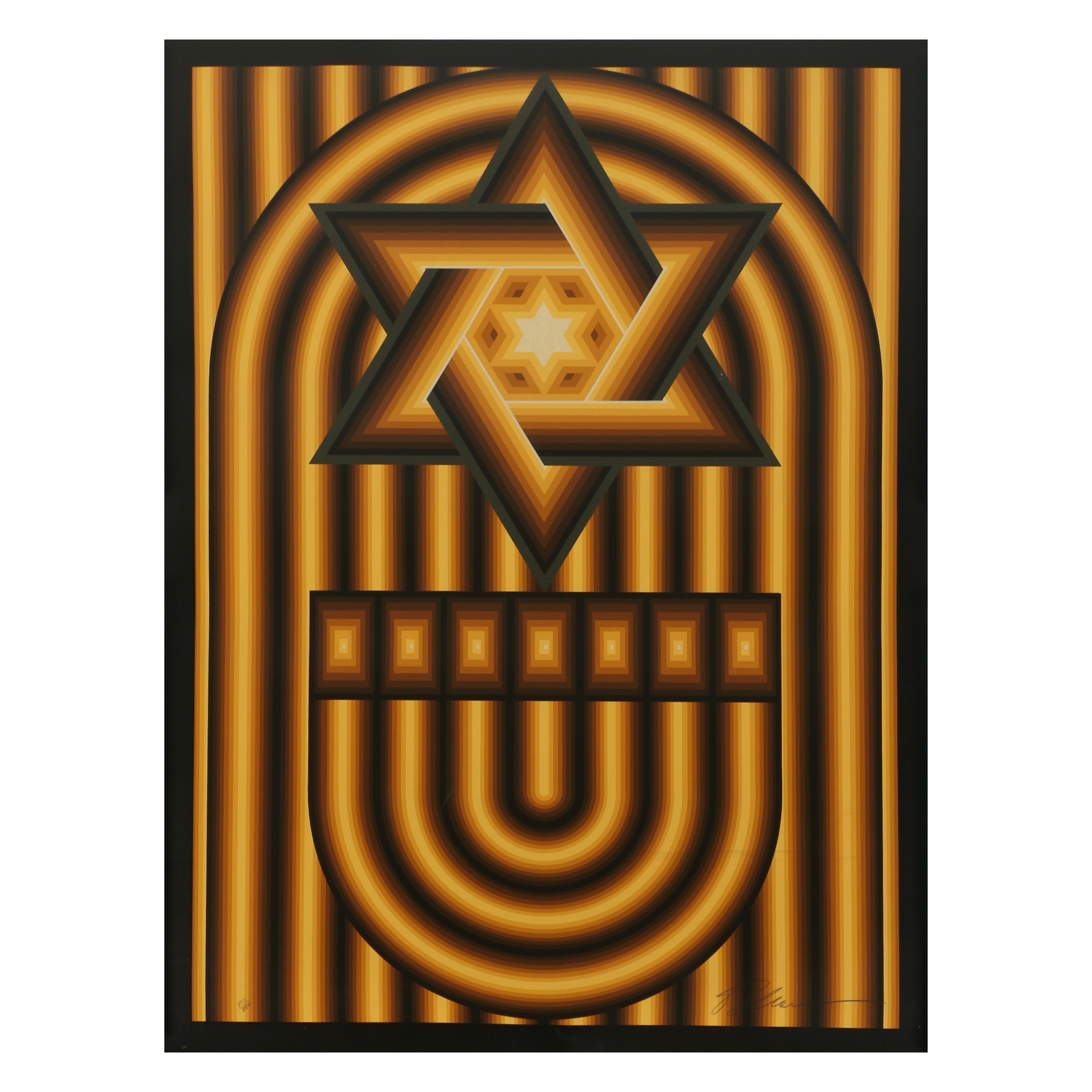 "Lev Moross Serigraph ""Star of David"""